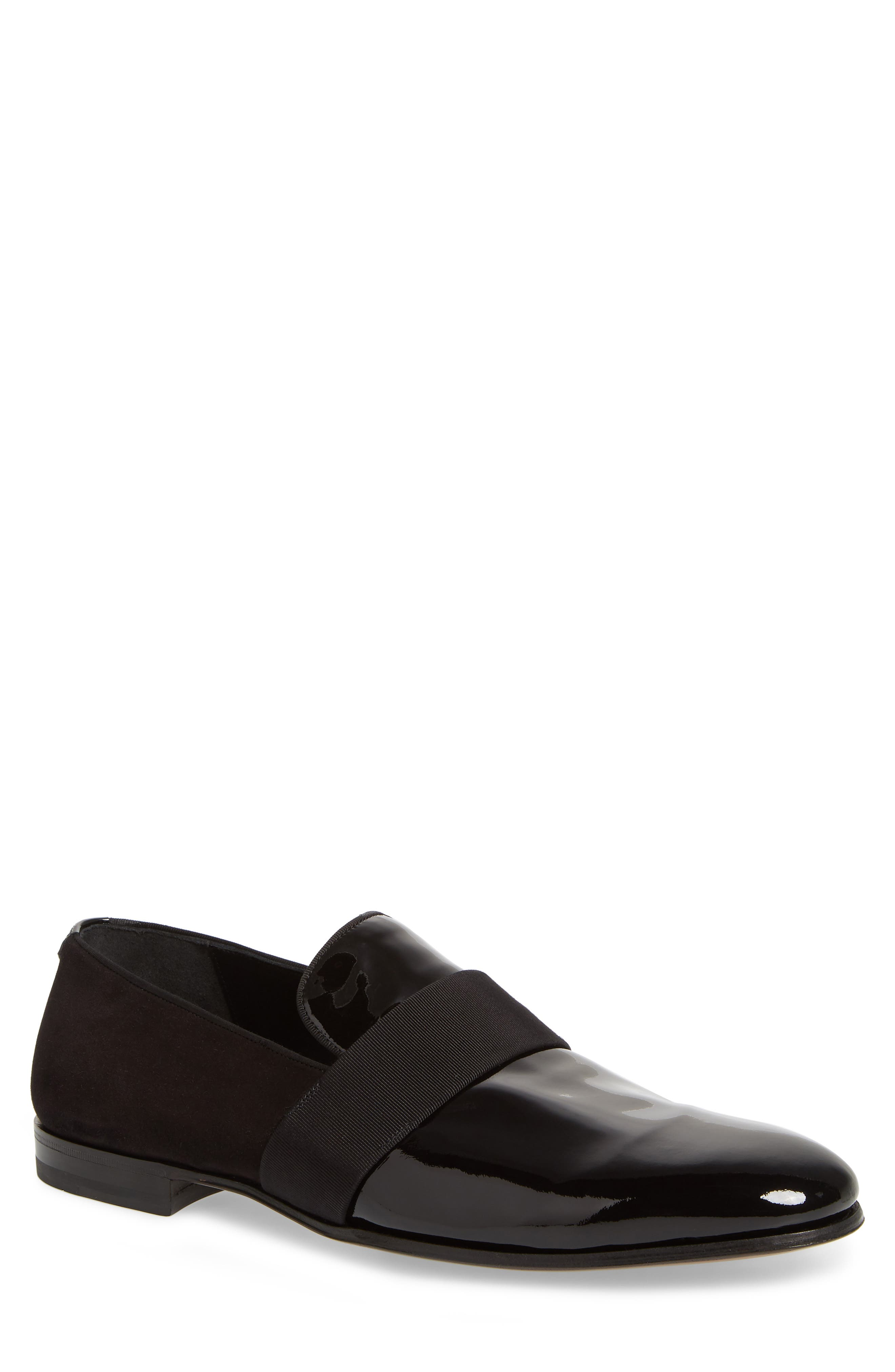SALVATORE FERRAGAMO, Bryden Banded Loafer, Main thumbnail 1, color, NERO