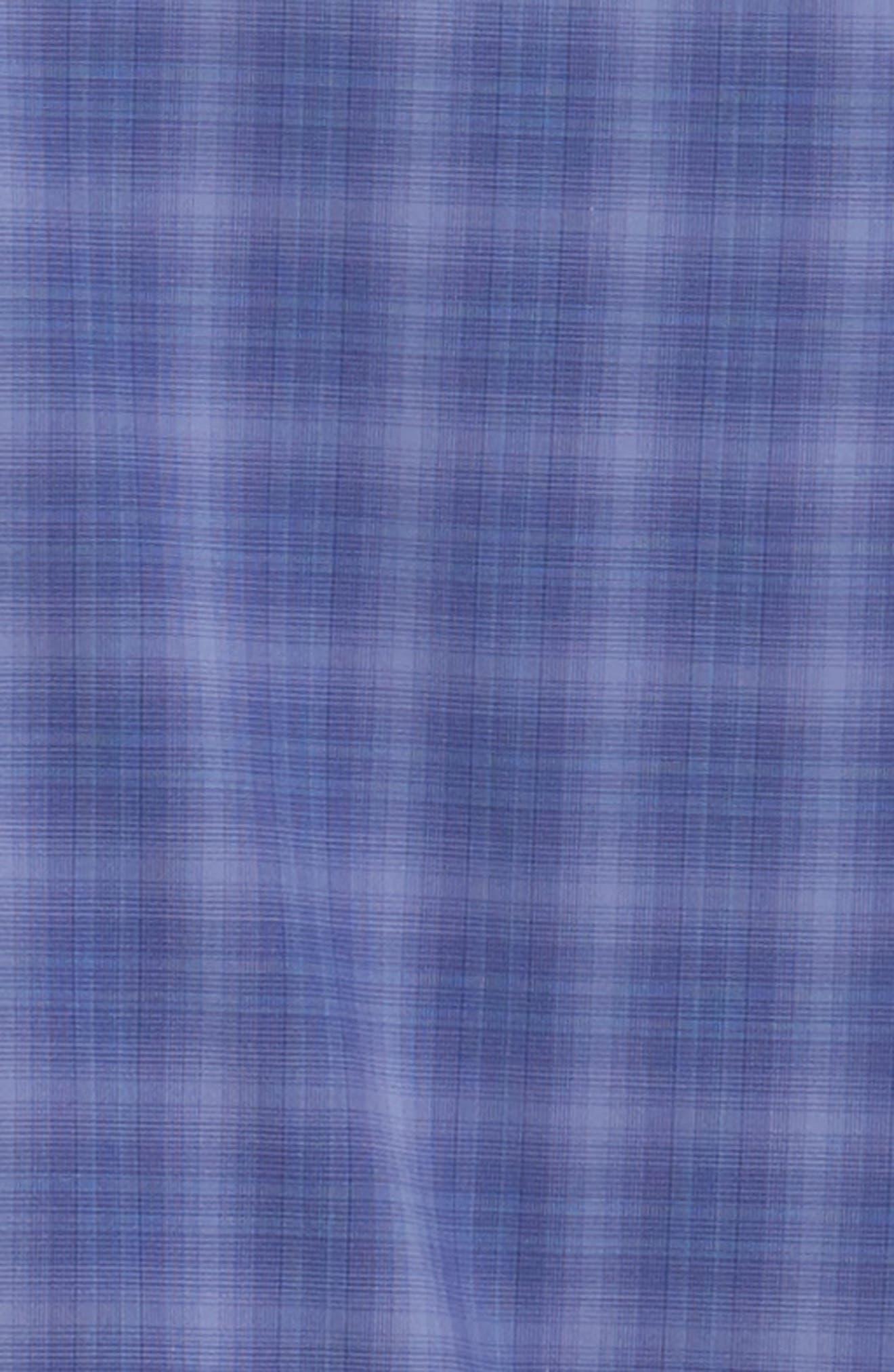 ZACHARY PRELL, Wandy Regular Fit Check Sport Shirt, Alternate thumbnail 6, color, LIGHT PURPLE