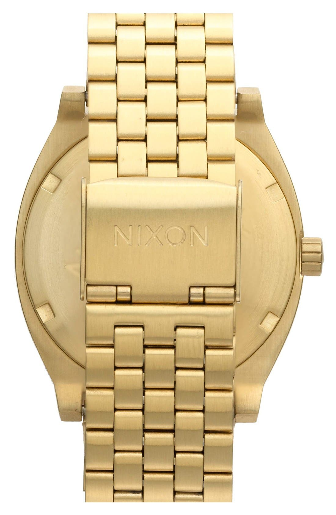 NIXON, 'The Time Teller' Watch, 37mm, Alternate thumbnail 2, color, GOLD