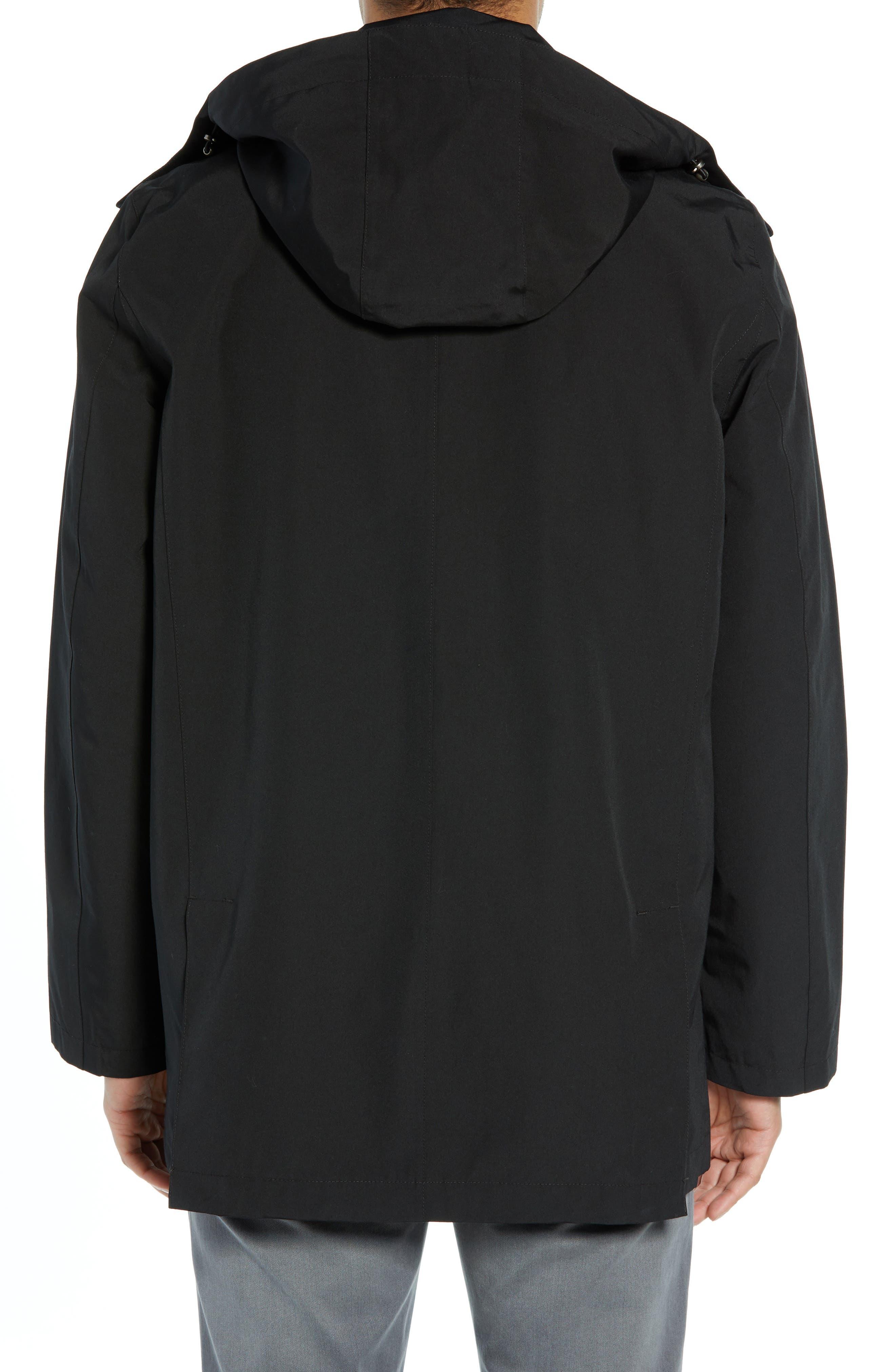 PENDLETON, Harbor Cloth Seattle Raincoat, Alternate thumbnail 2, color, BLACK