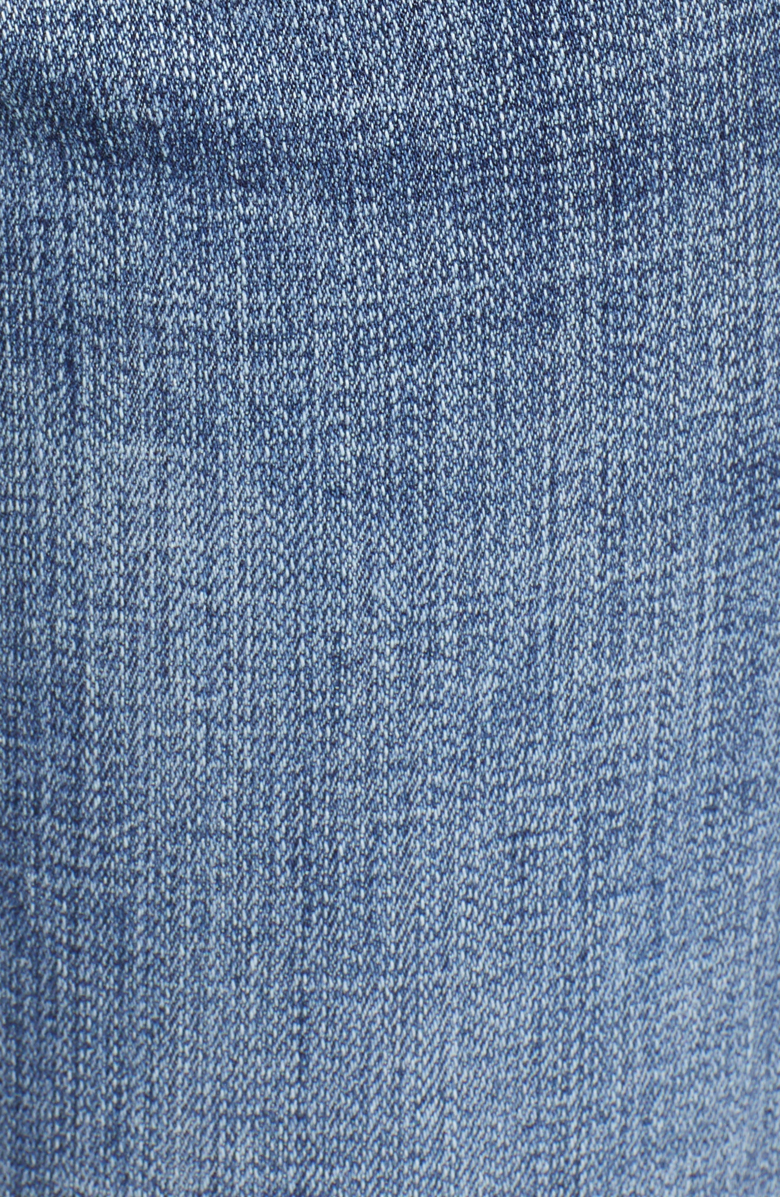 JAG JEANS, Carter Girlfriend Jeans, Alternate thumbnail 5, color, MED INDIGO