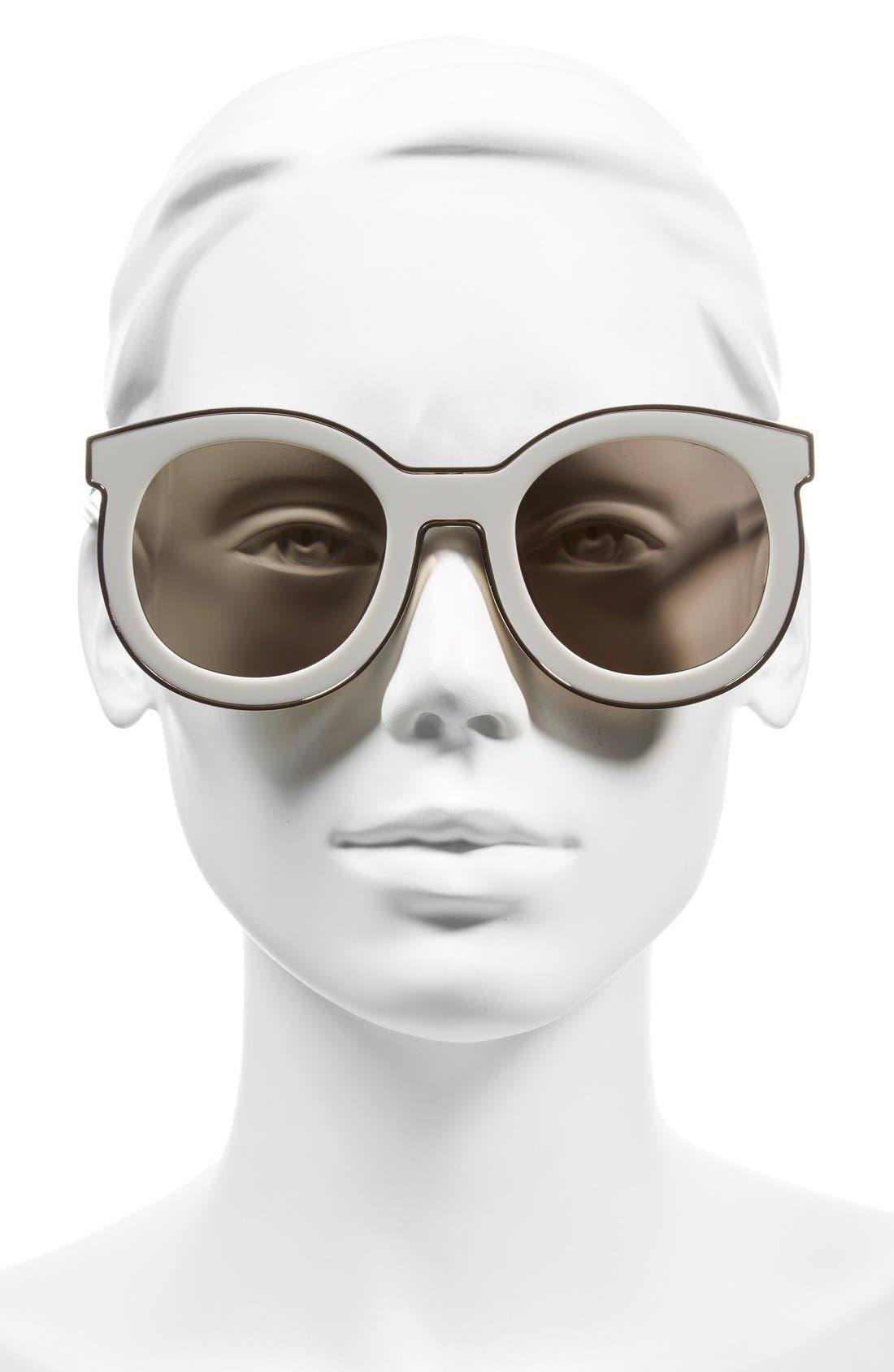 KAREN WALKER, 'Super Spaceship - Arrowed by Karen' 52mm Sunglasses, Alternate thumbnail 2, color, 100