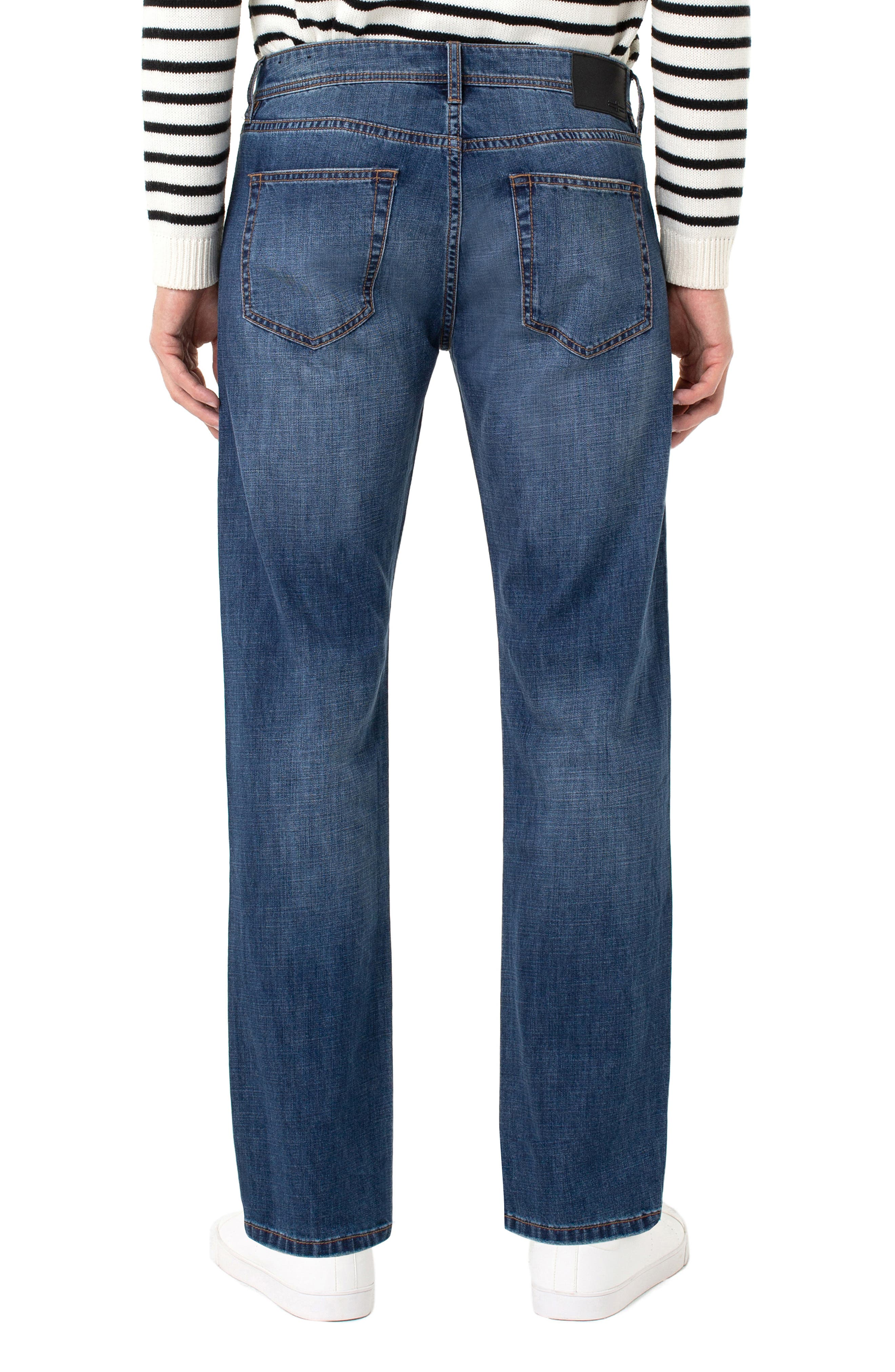 LIVERPOOL, Regent Relaxed Straight Leg Jeans, Alternate thumbnail 2, color, ANDERSON MID