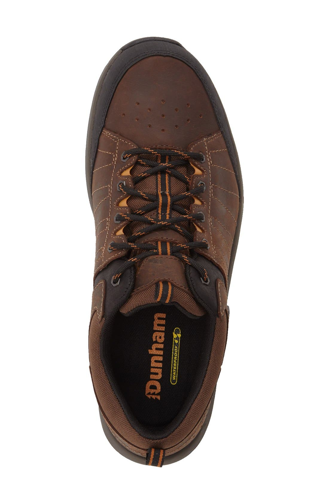 DUNHAM, Seth-Dun Waterproof Sneaker, Alternate thumbnail 4, color, BROWN LEATHER