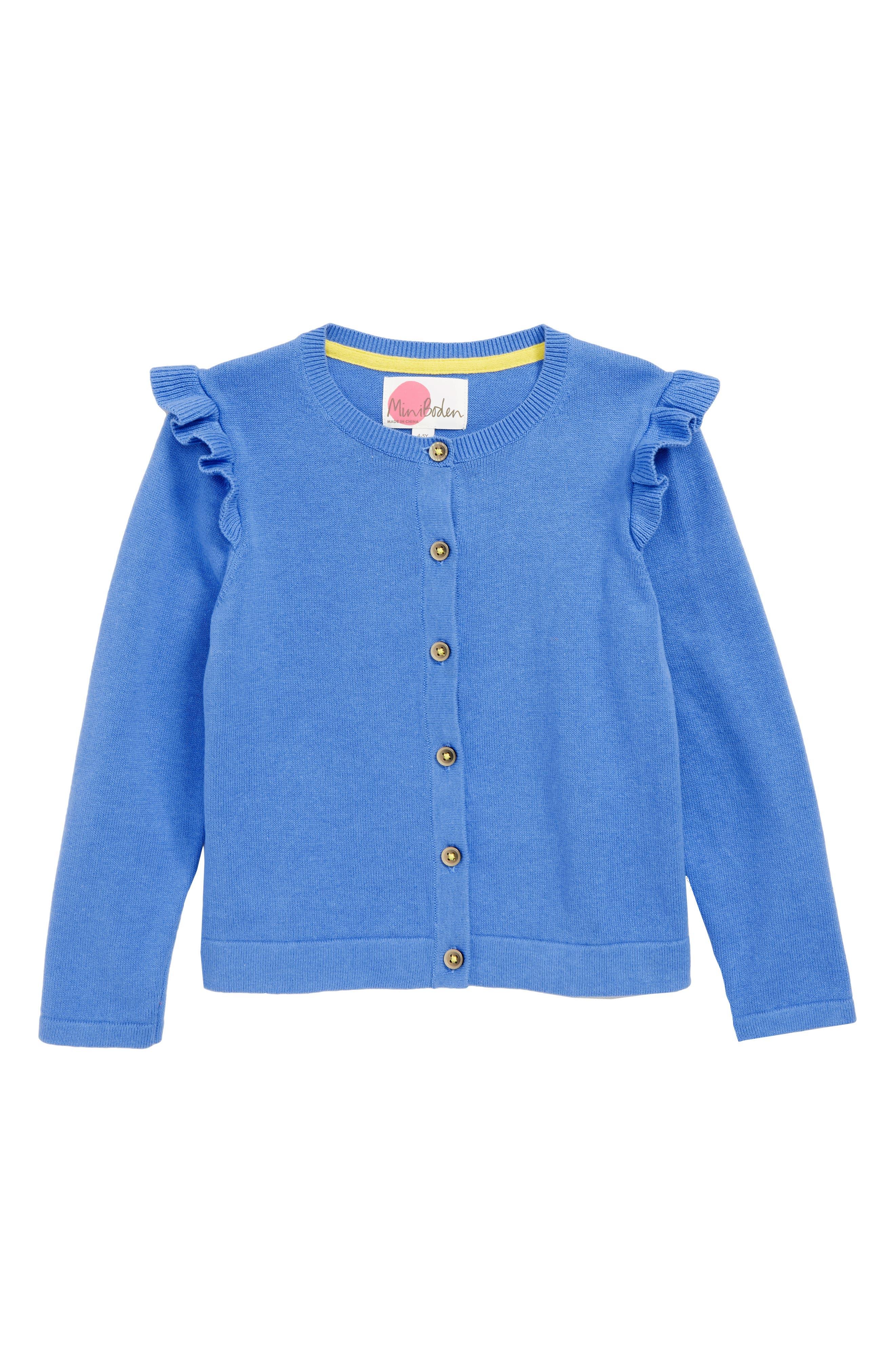 Girls Mini Boden Pretty Cardigan Size 78Y  Blue