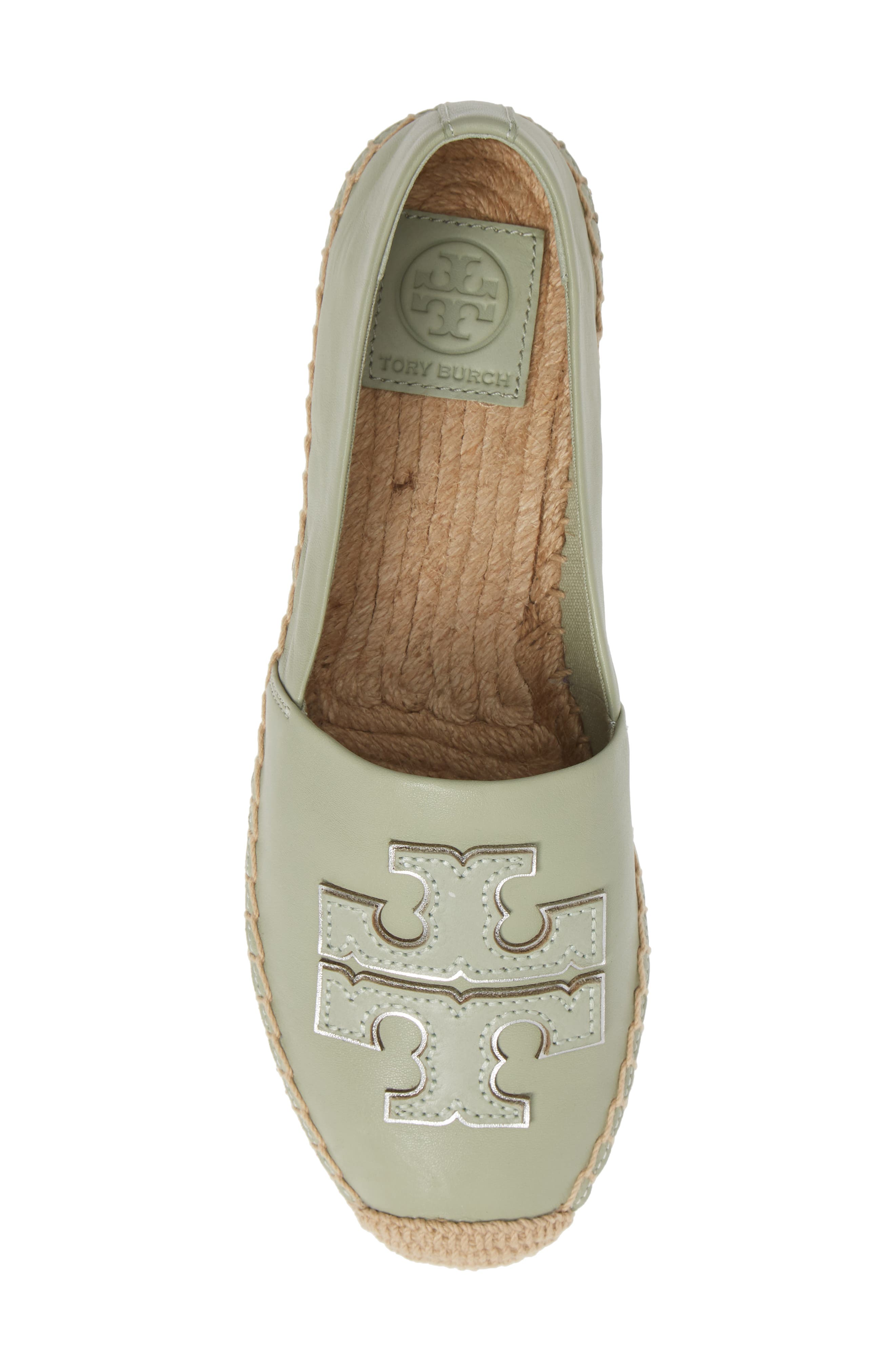 TORY BURCH, Ines Espadrille, Alternate thumbnail 5, color, GARDEN SAGE / SILVER