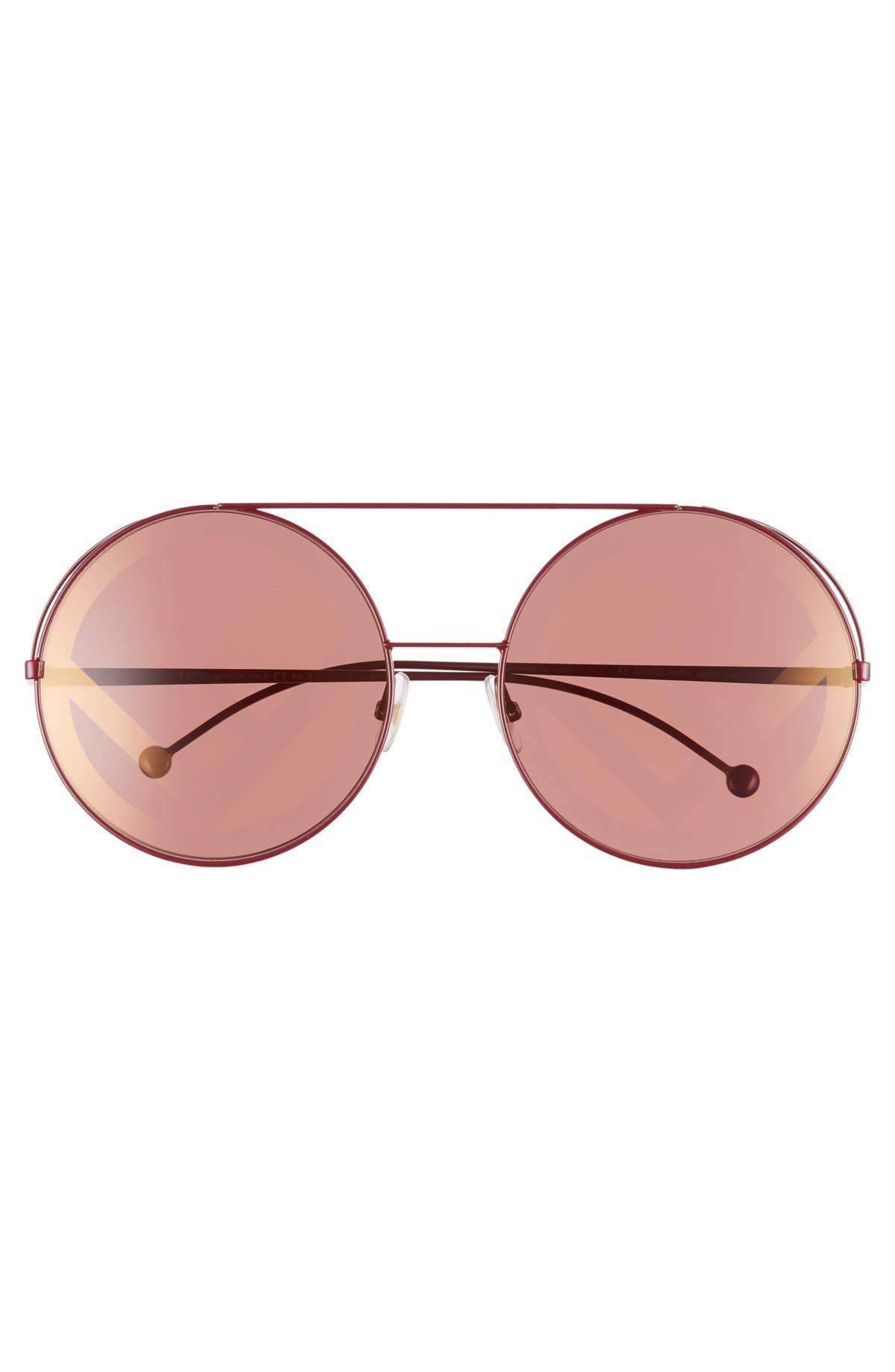 1a6d5e55a8535 Fendi Run Away 63mm Round Sunglasses