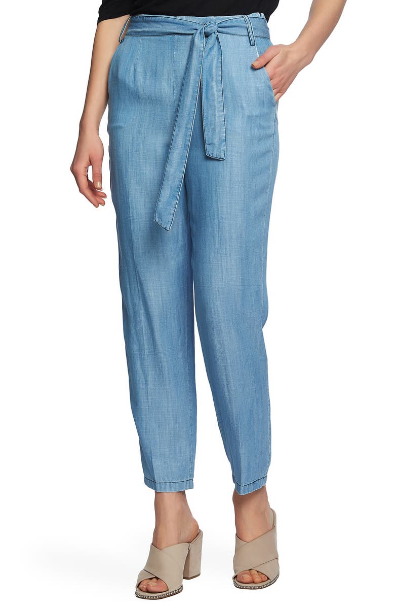 1.state Pants TIE WAIST TAPERED LEG PANTS