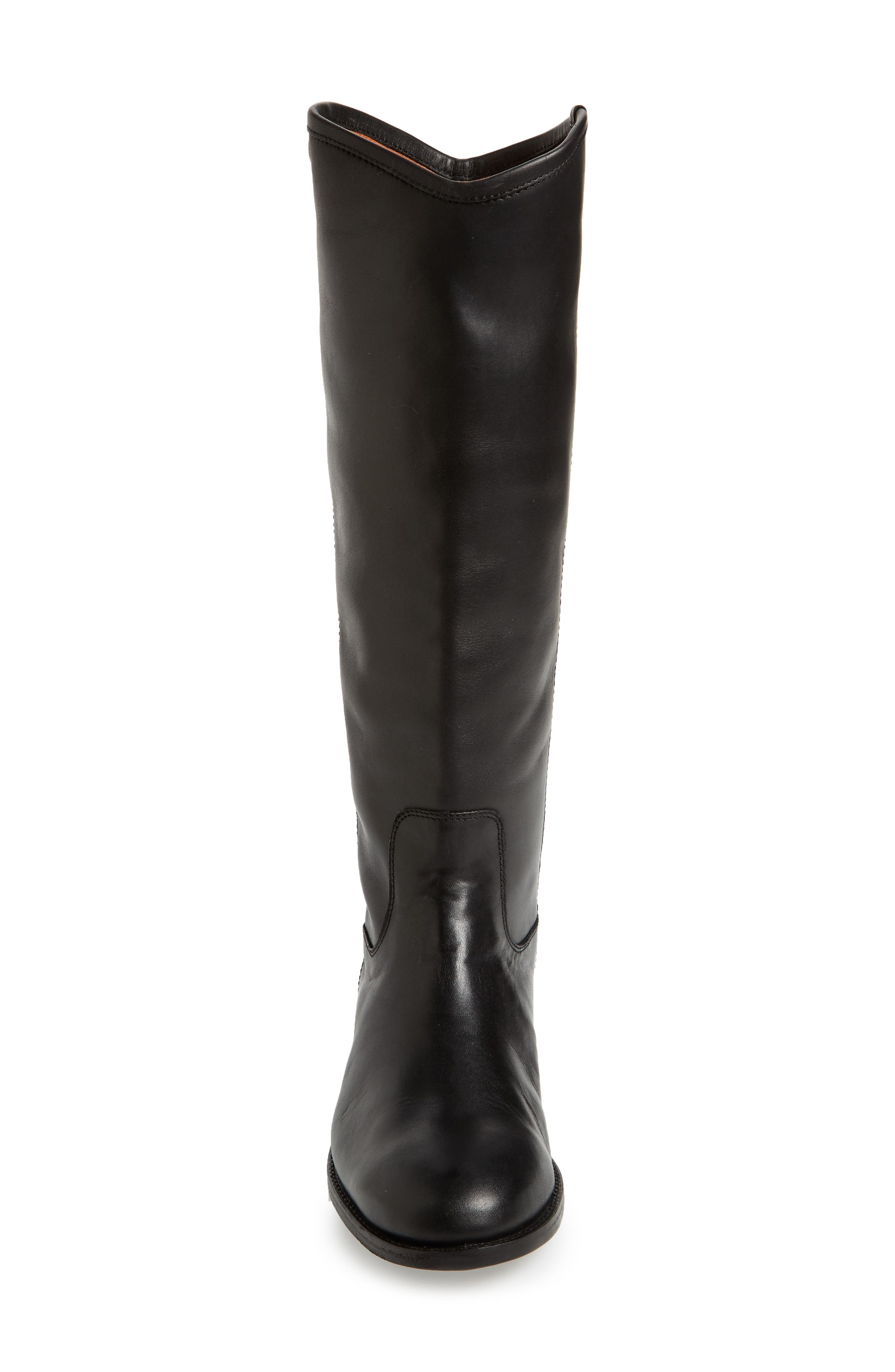 FRYE, Melissa Button 2 Knee High Boot, Alternate thumbnail 4, color, BLACK LEATHER