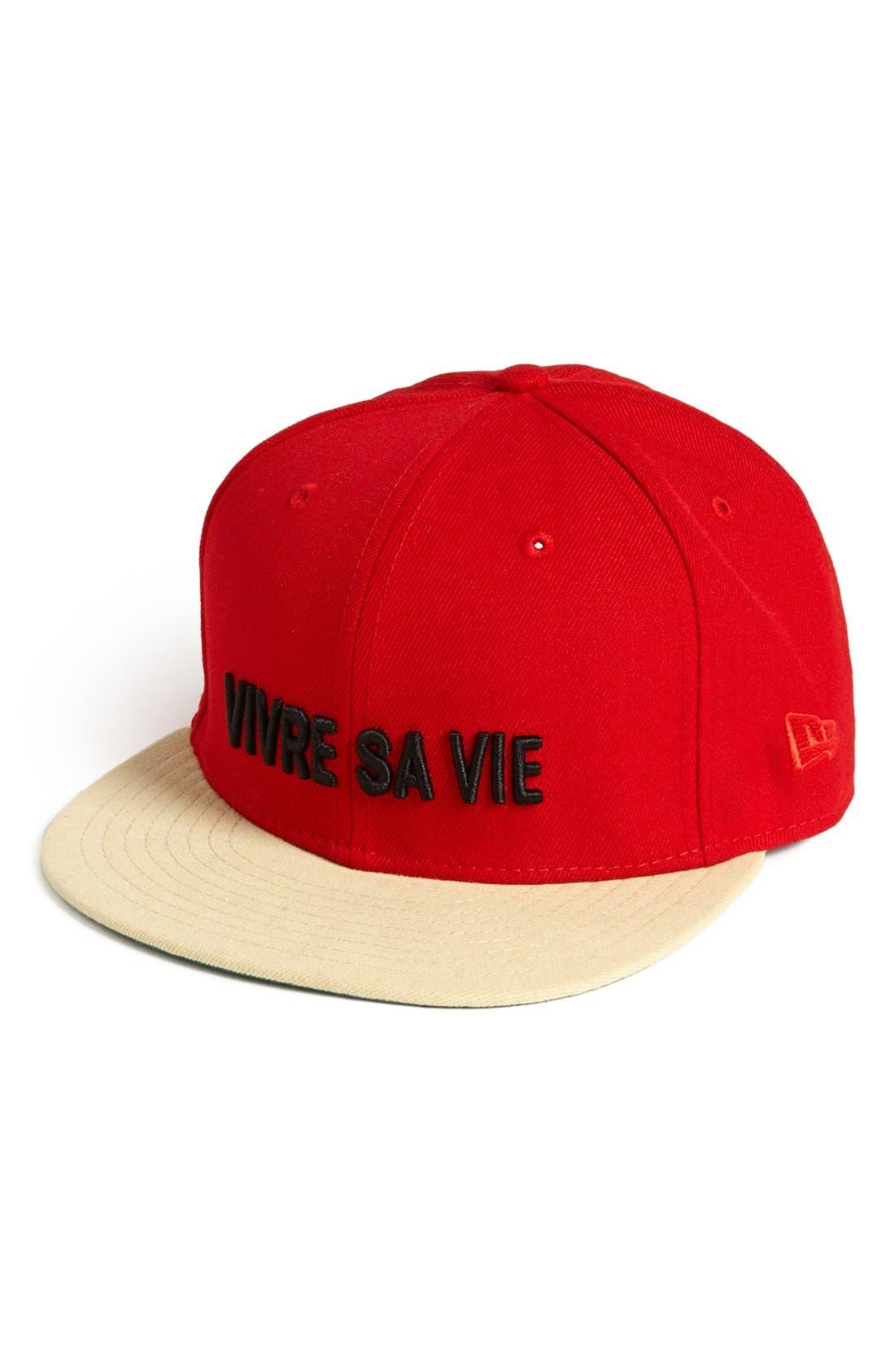 NEW ERA CAP, 'Vivre Sa Vie' Baseball Cap, Alternate thumbnail 3, color, 600