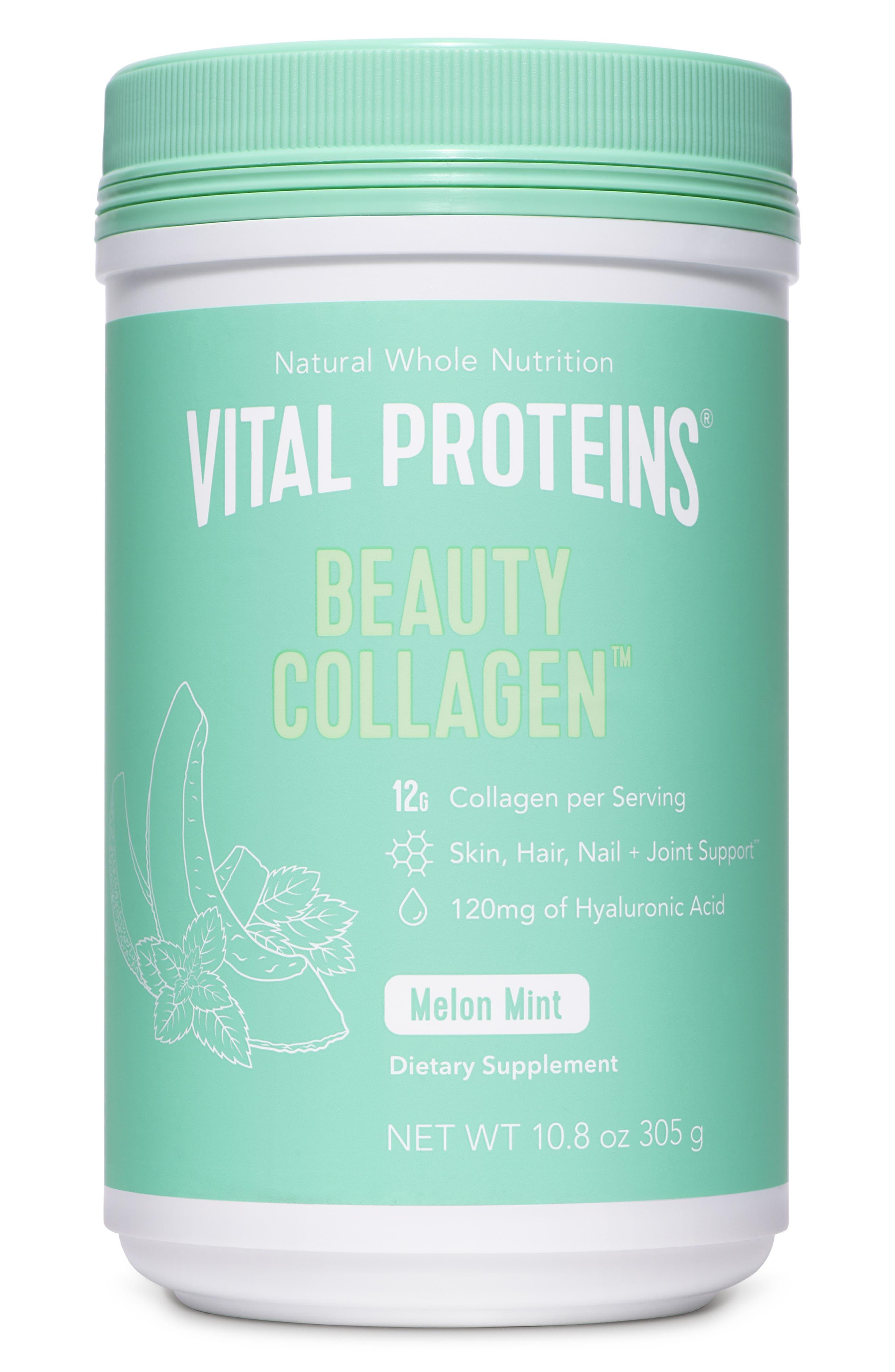 VITAL PROTEINS, Beauty Collagen Dietary Supplement, Main thumbnail 1, color, MELON MINT
