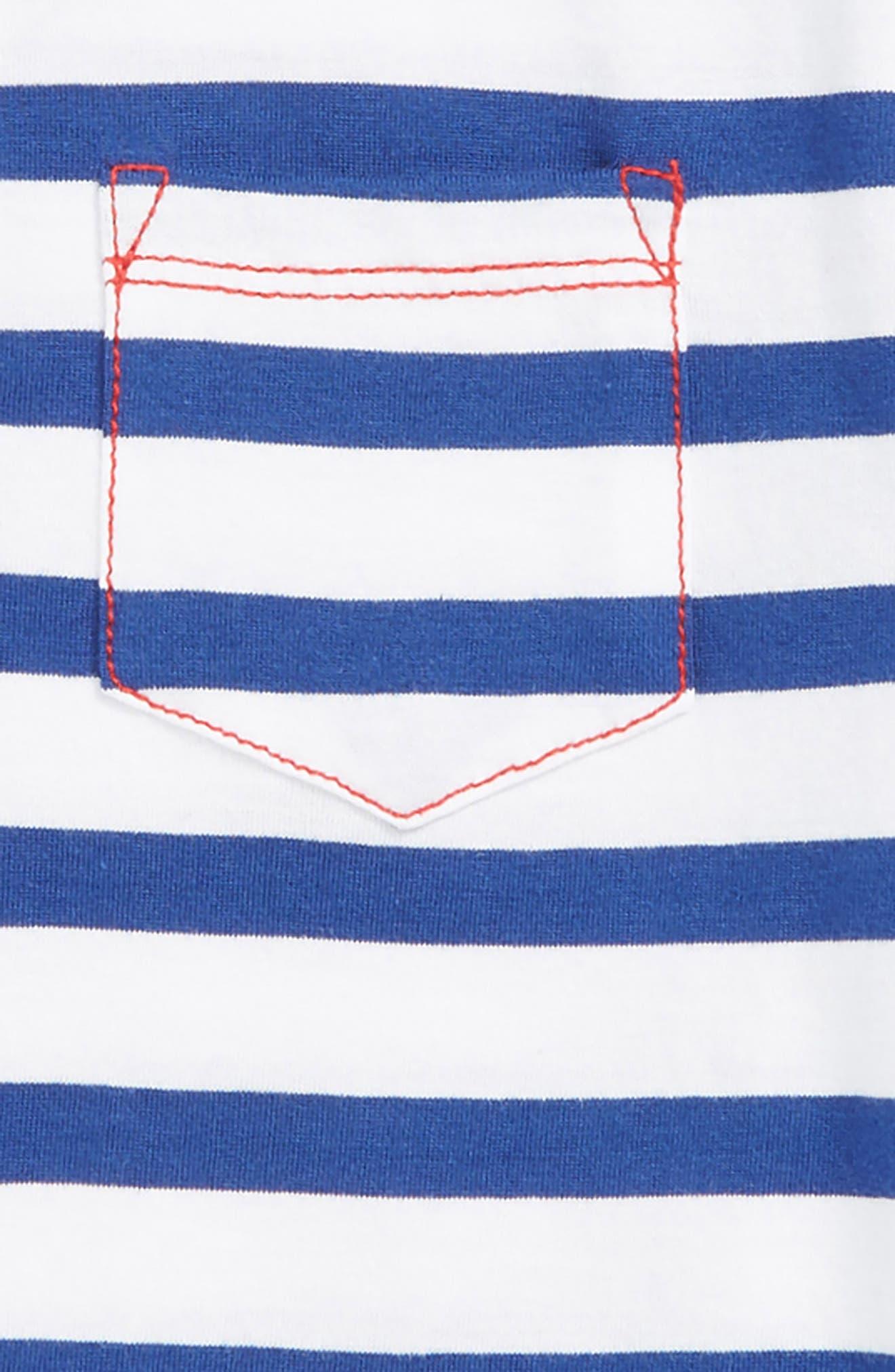 HATLEY, Nautical Stripes Polo, Alternate thumbnail 2, color, WHITE