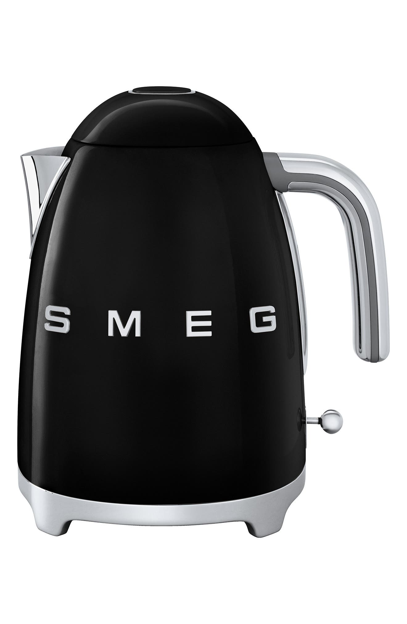 SMEG '50s Retro Style Electric Kettle, Main, color, BLACK