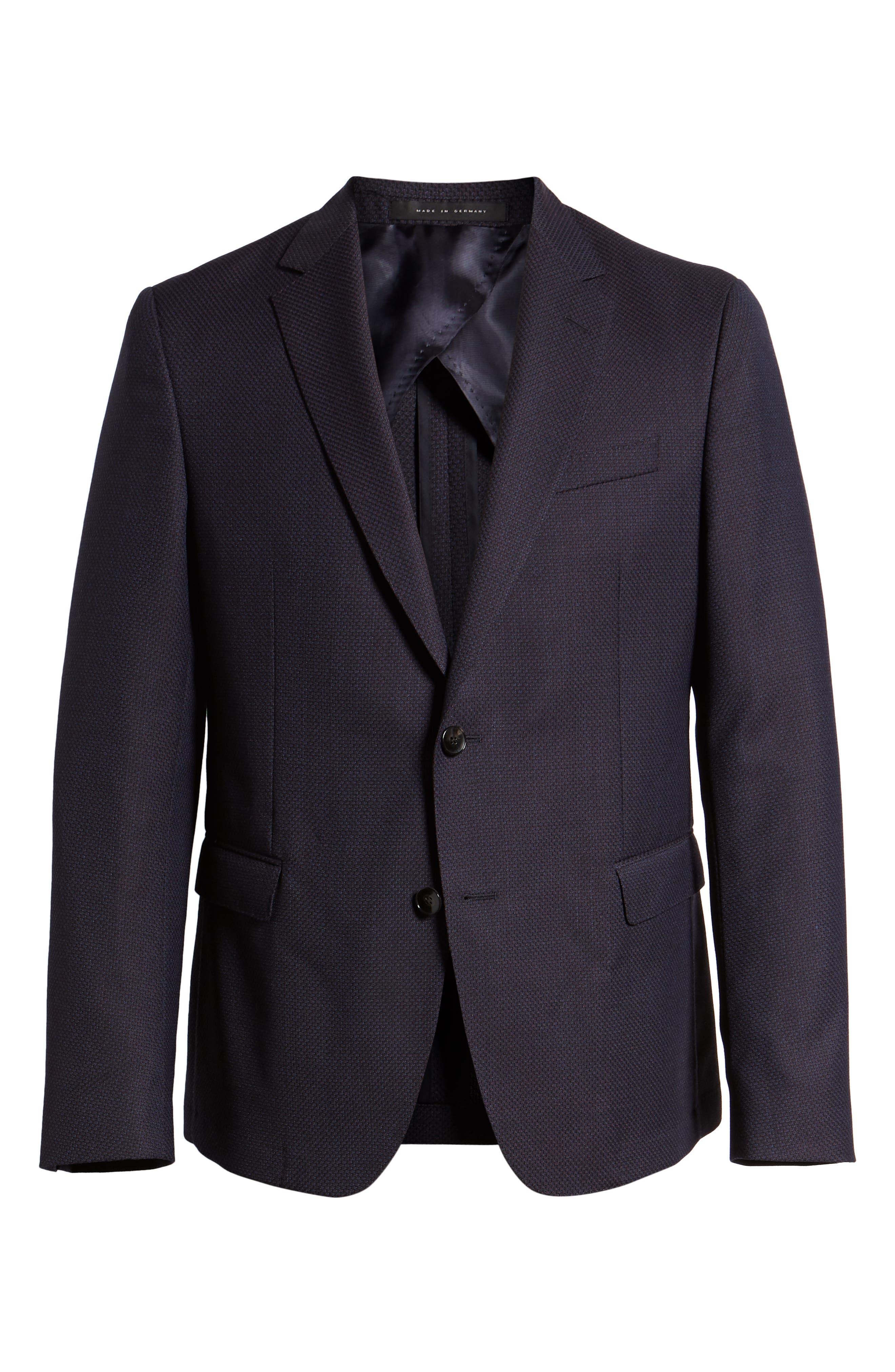 BOSS, x Nordstrom Nobis Trim Fit Wool Blazer, Alternate thumbnail 5, color, 400