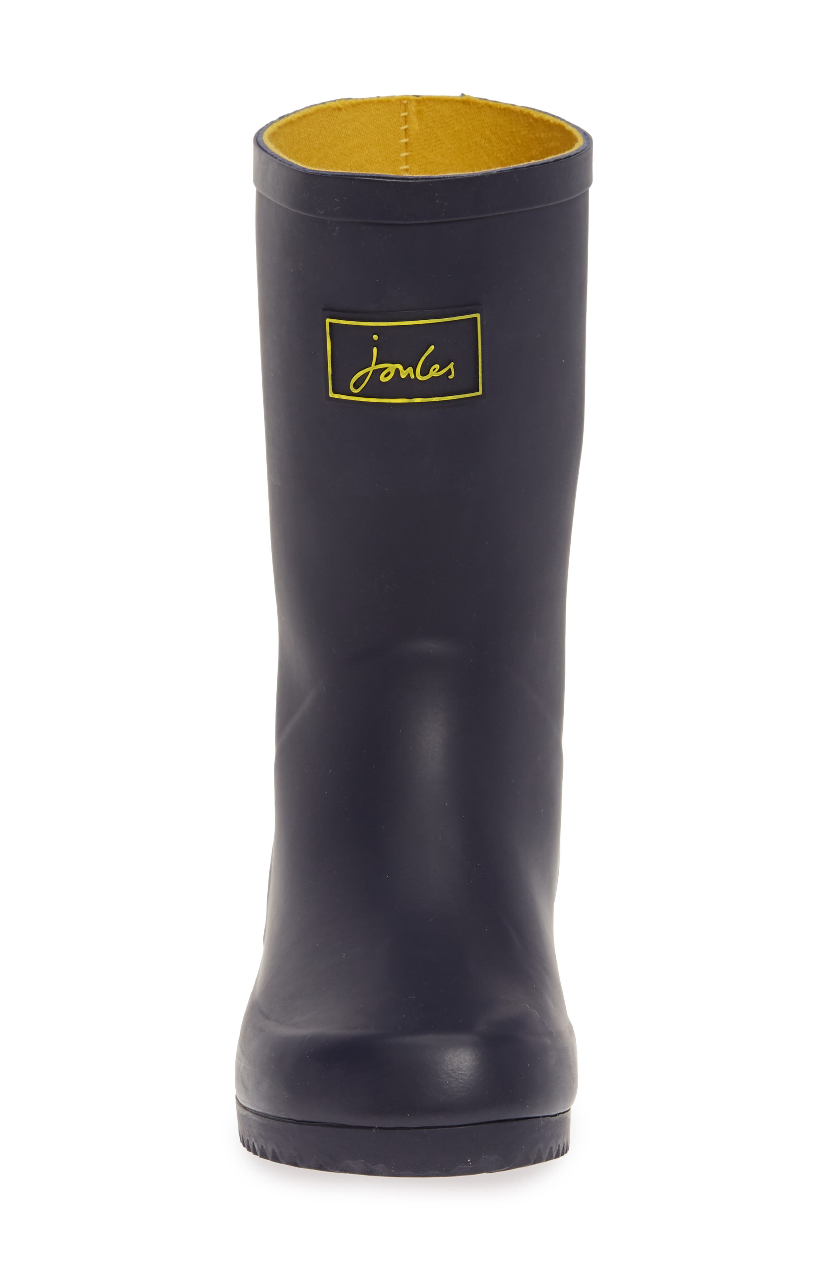 JOULES, Roll Up Waterproof Rain Boot, Alternate thumbnail 4, color, FRENCH NAVY