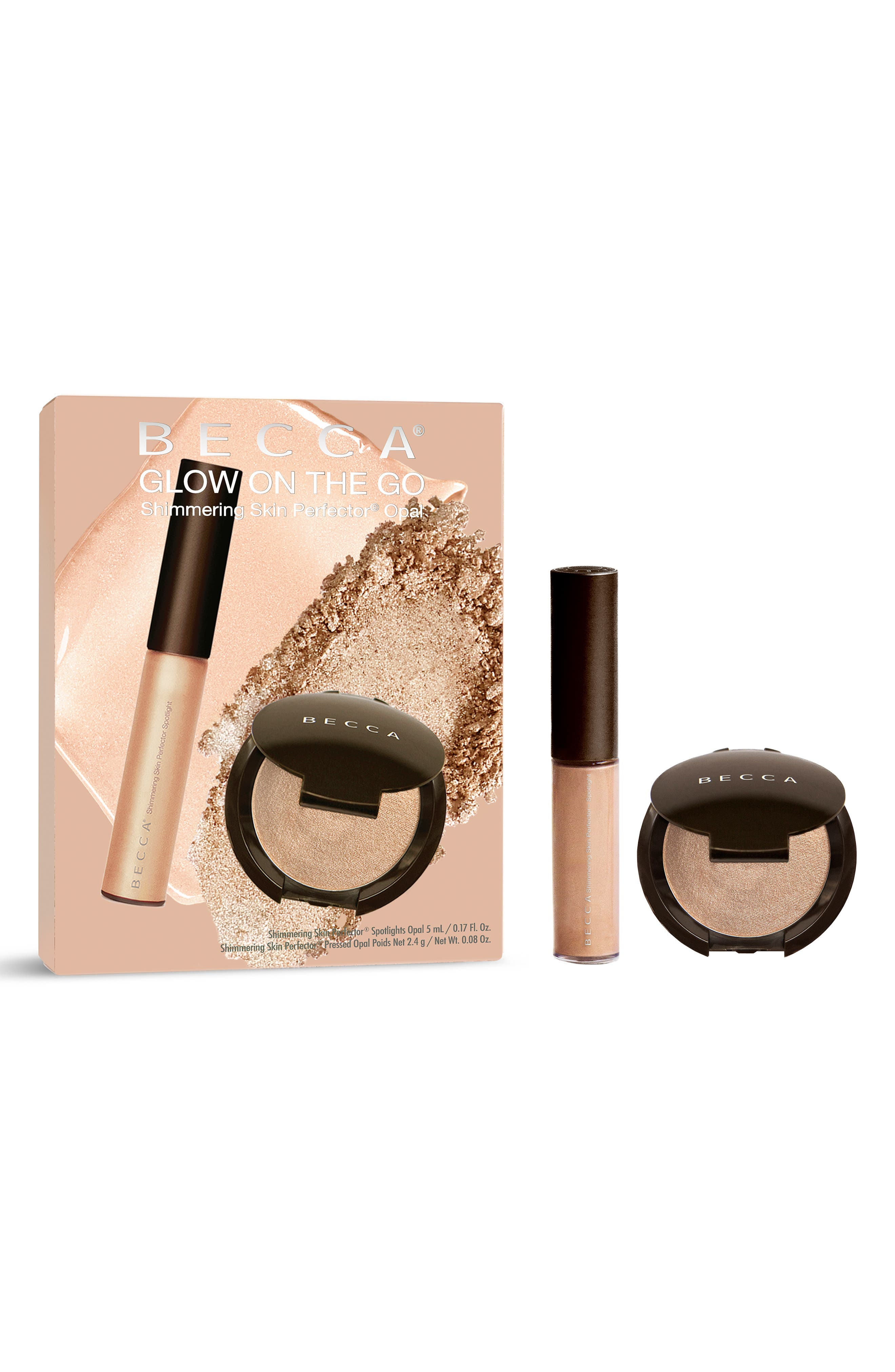 BECCA COSMETICS, BECCA Glow on the Go Highlighter Set, Alternate thumbnail 2, color, OPAL