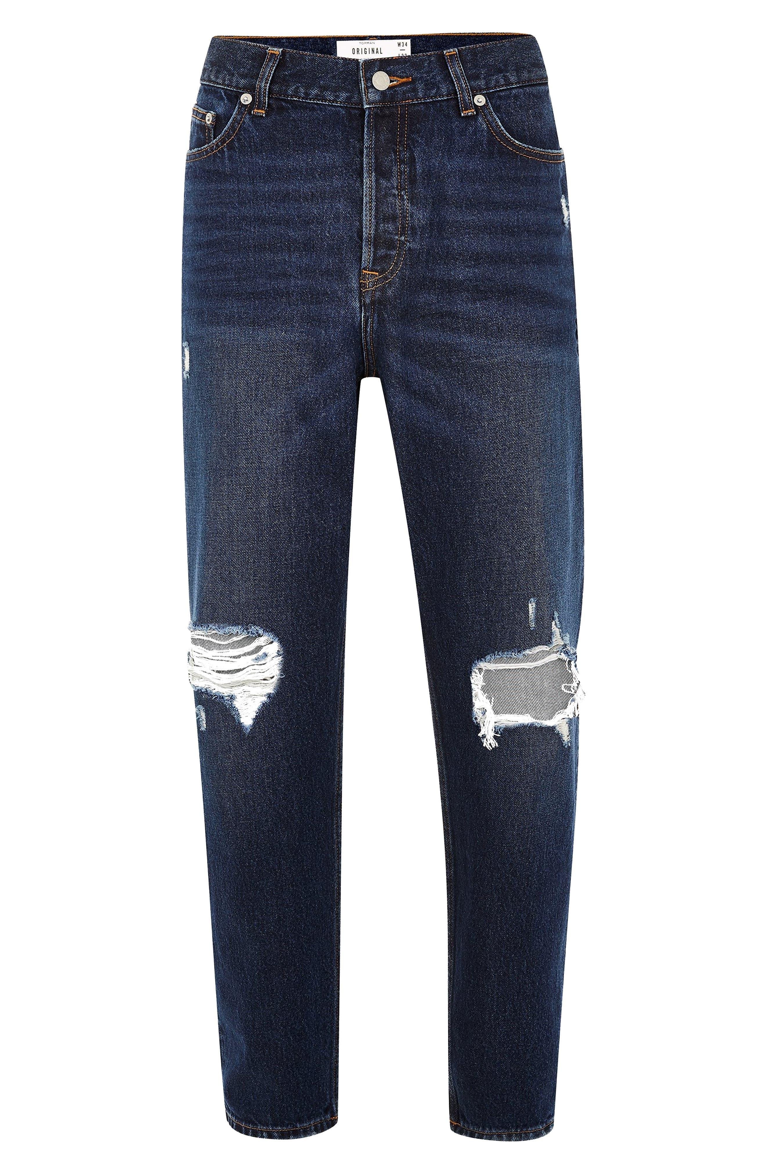 TOPMAN, Mikey Original Fit Jeans, Alternate thumbnail 5, color, 400