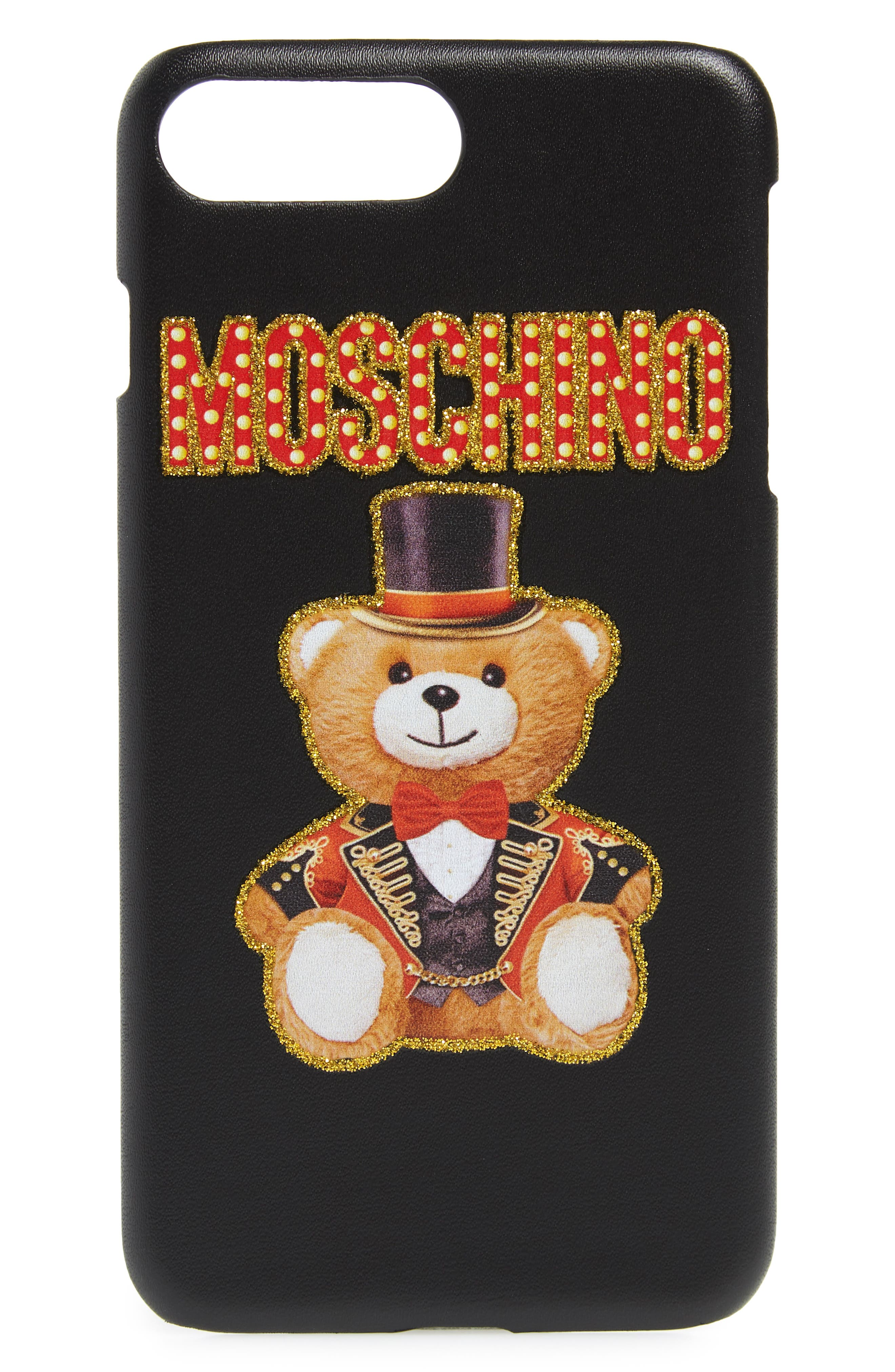 MOSCHINO Ring Master iPhone 6/6s/7/8 Case, Main, color, BLACK