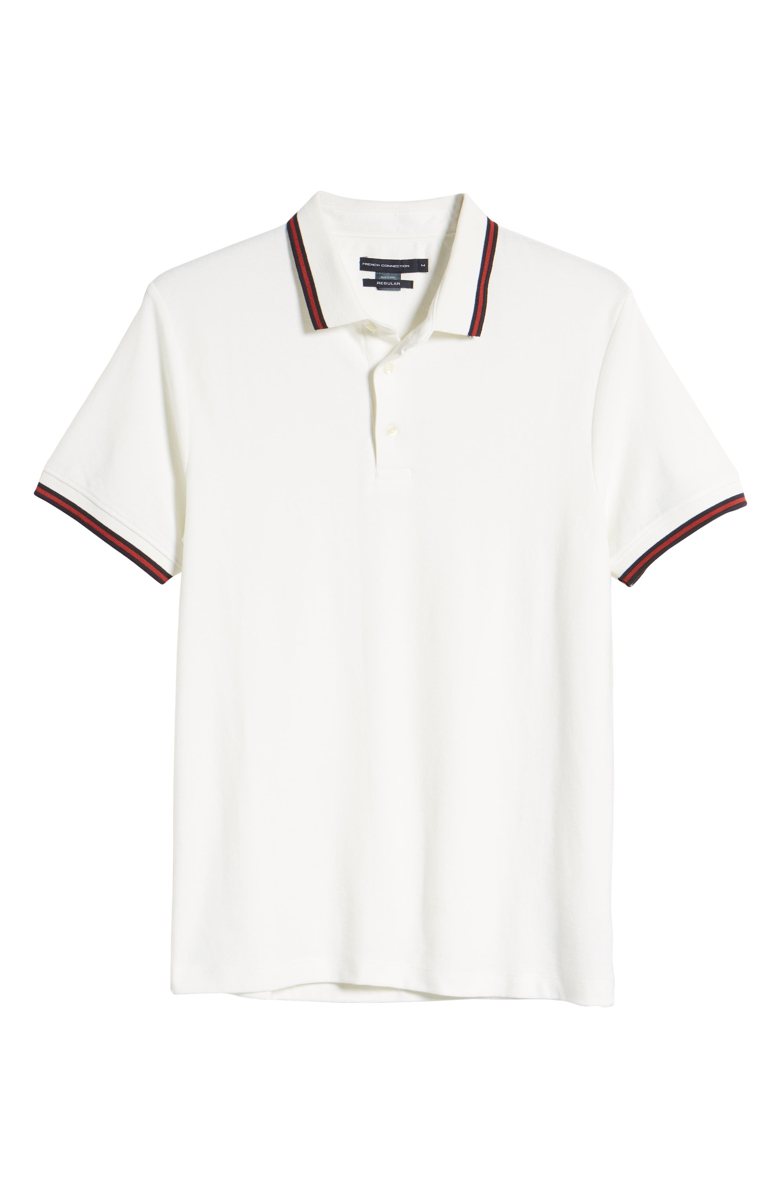 FRENCH CONNECTION, Dobby Jersey Regular Fit Polo, Alternate thumbnail 6, color, MILK BRICK RED