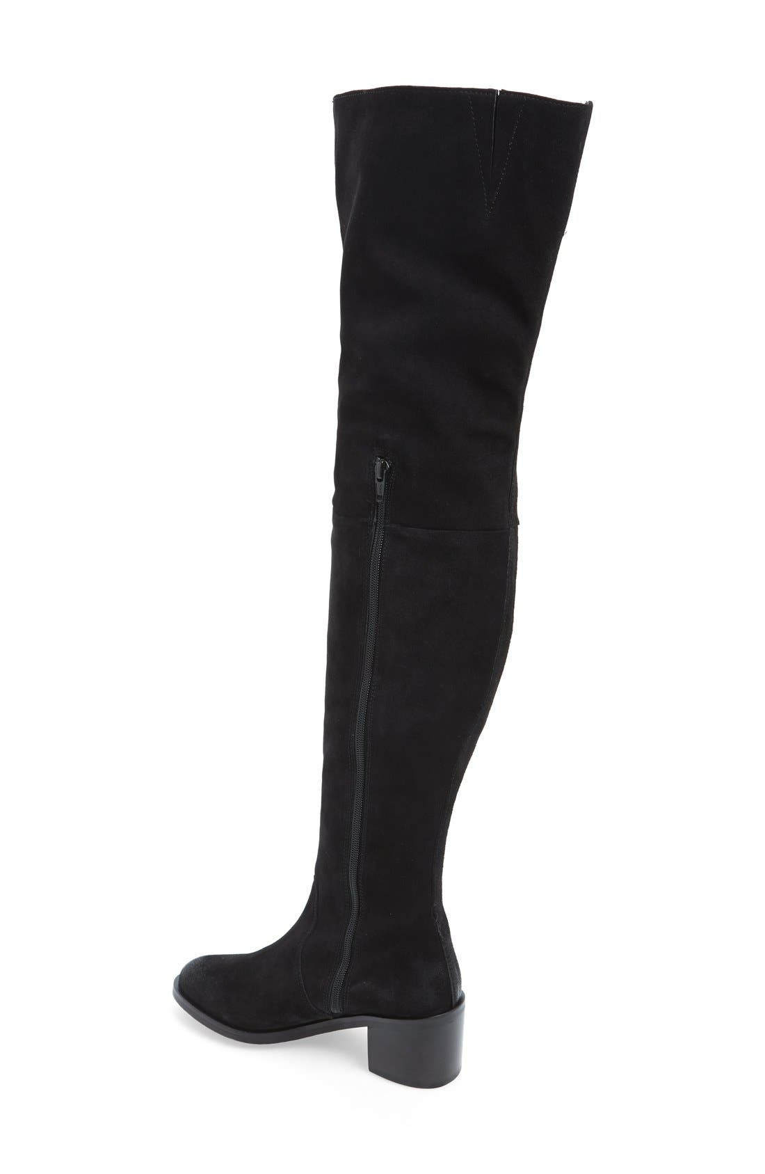 SEYCHELLES, 'Sardonyx' Thigh High Boot, Alternate thumbnail 4, color, 001