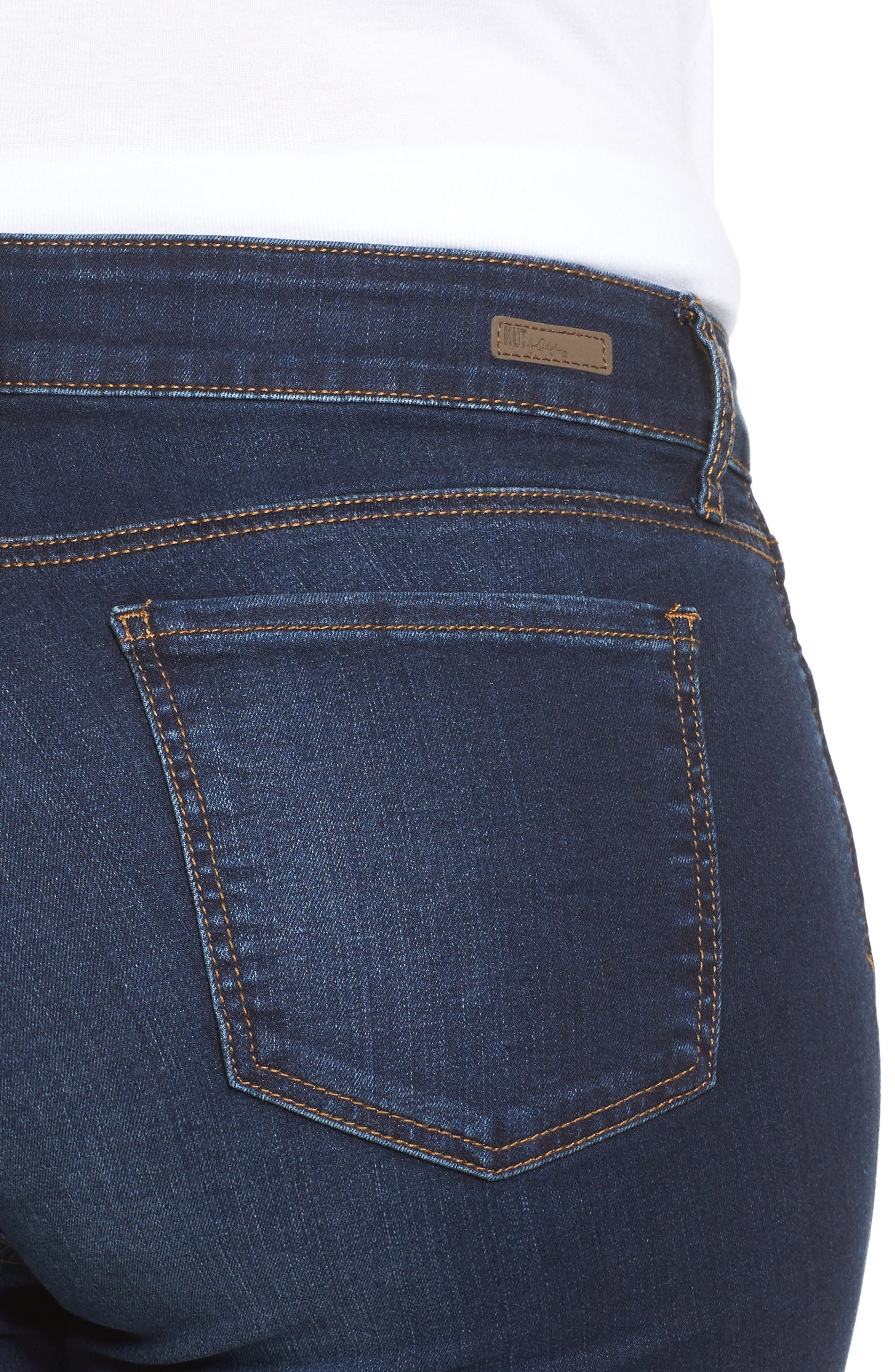 KUT FROM THE KLOTH, Natalie High Waist Bootcut Jeans, Alternate thumbnail 4, color, CLOSENESS W/ EURO BASE WASH