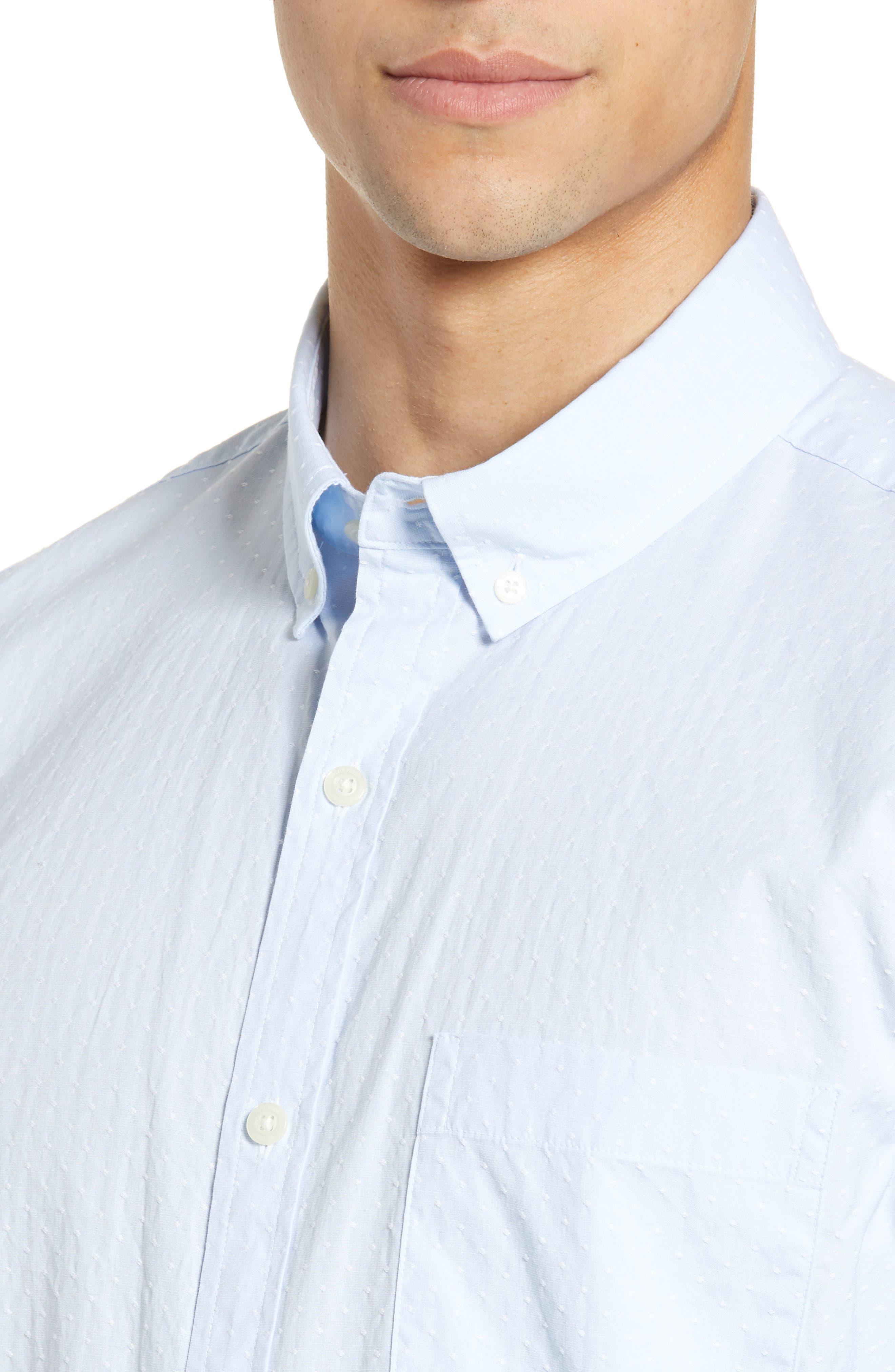 VINEYARD VINES, Wavine Slim Fit Dobby Sport Shirt, Alternate thumbnail 2, color, JAKE BLUE
