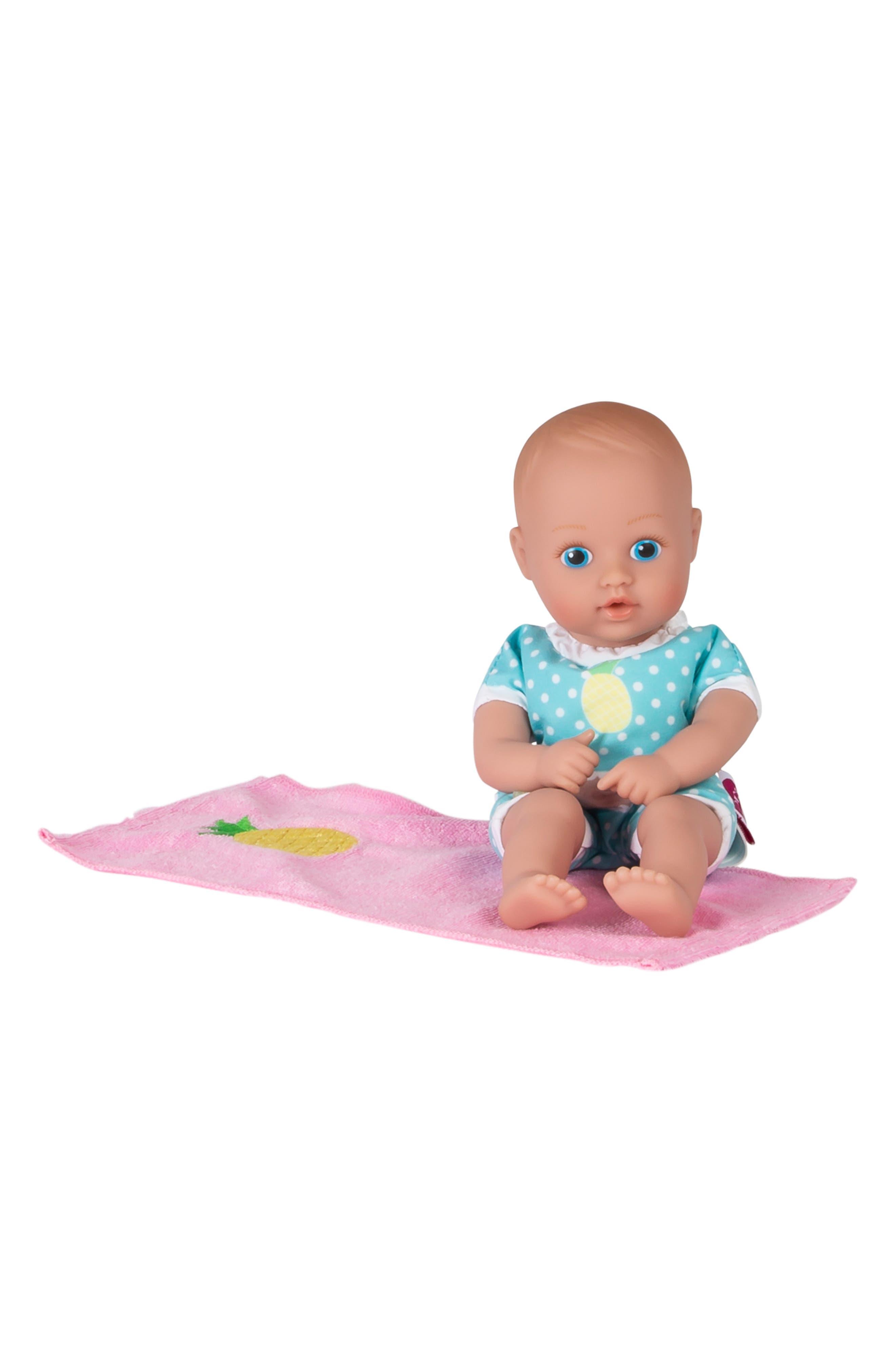 ADORA, Sweet Pineapple Splashtime Baby Doll, Alternate thumbnail 6, color, YELLOW
