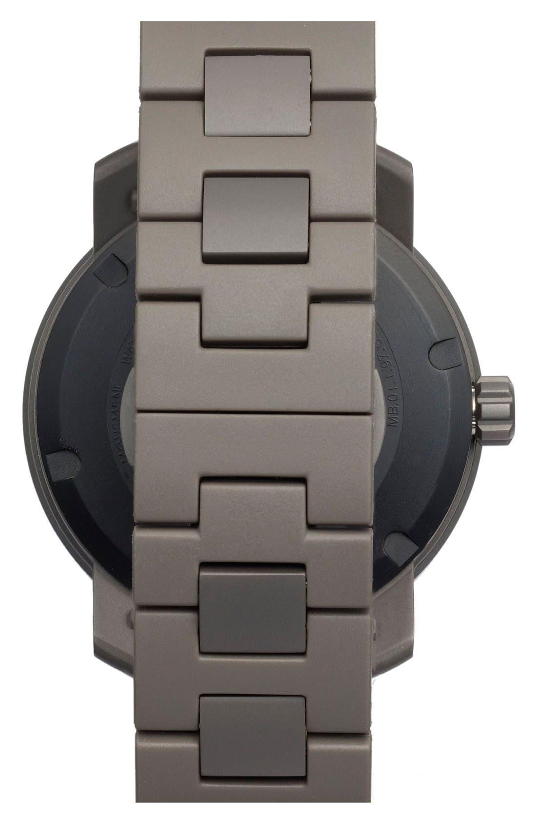 MOVADO, 'Bold' Bracelet Watch, 46mm, Alternate thumbnail 3, color, 001