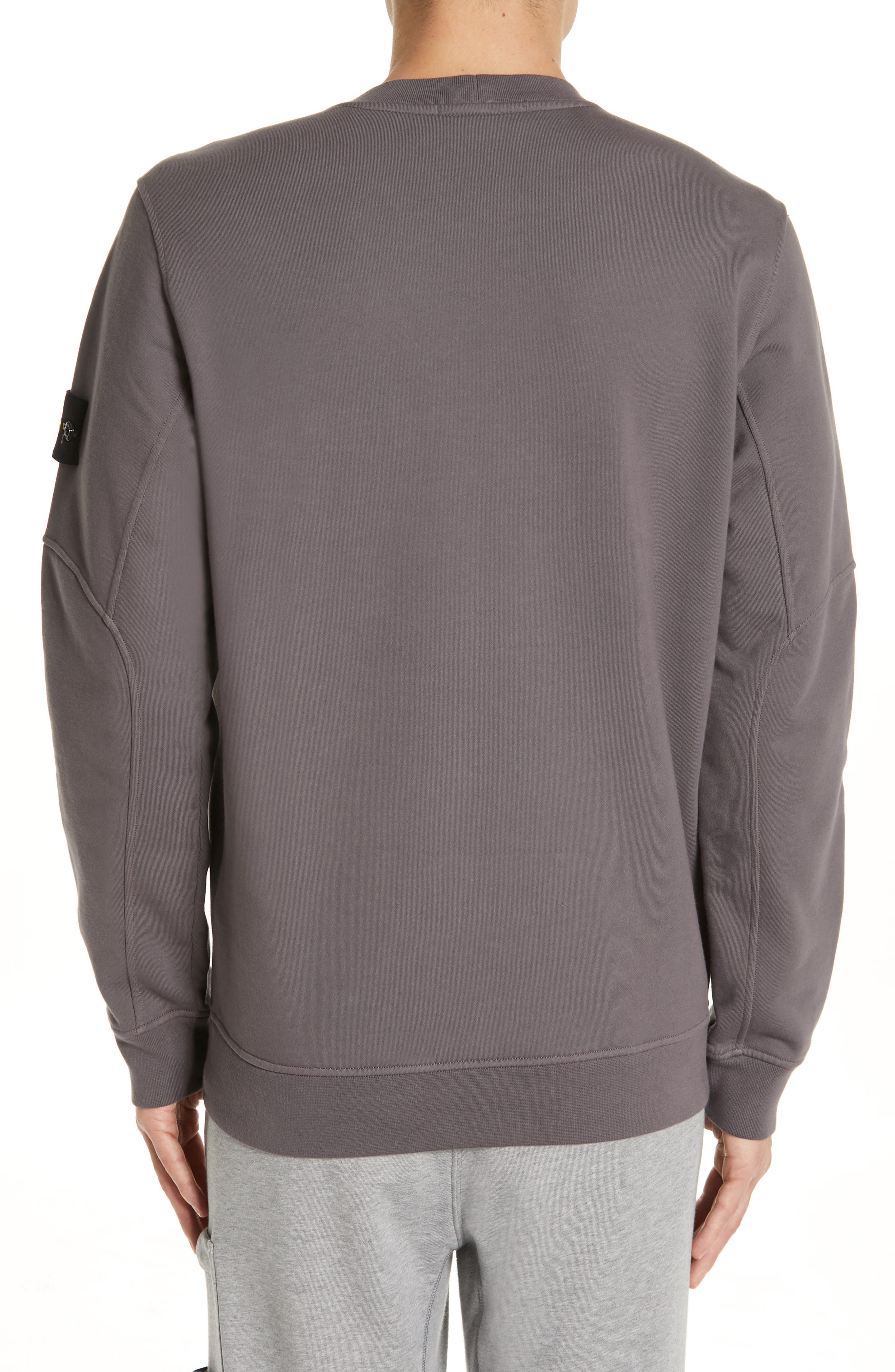 STONE ISLAND, Pocket Sweatshirt, Alternate thumbnail 2, color, BLUE