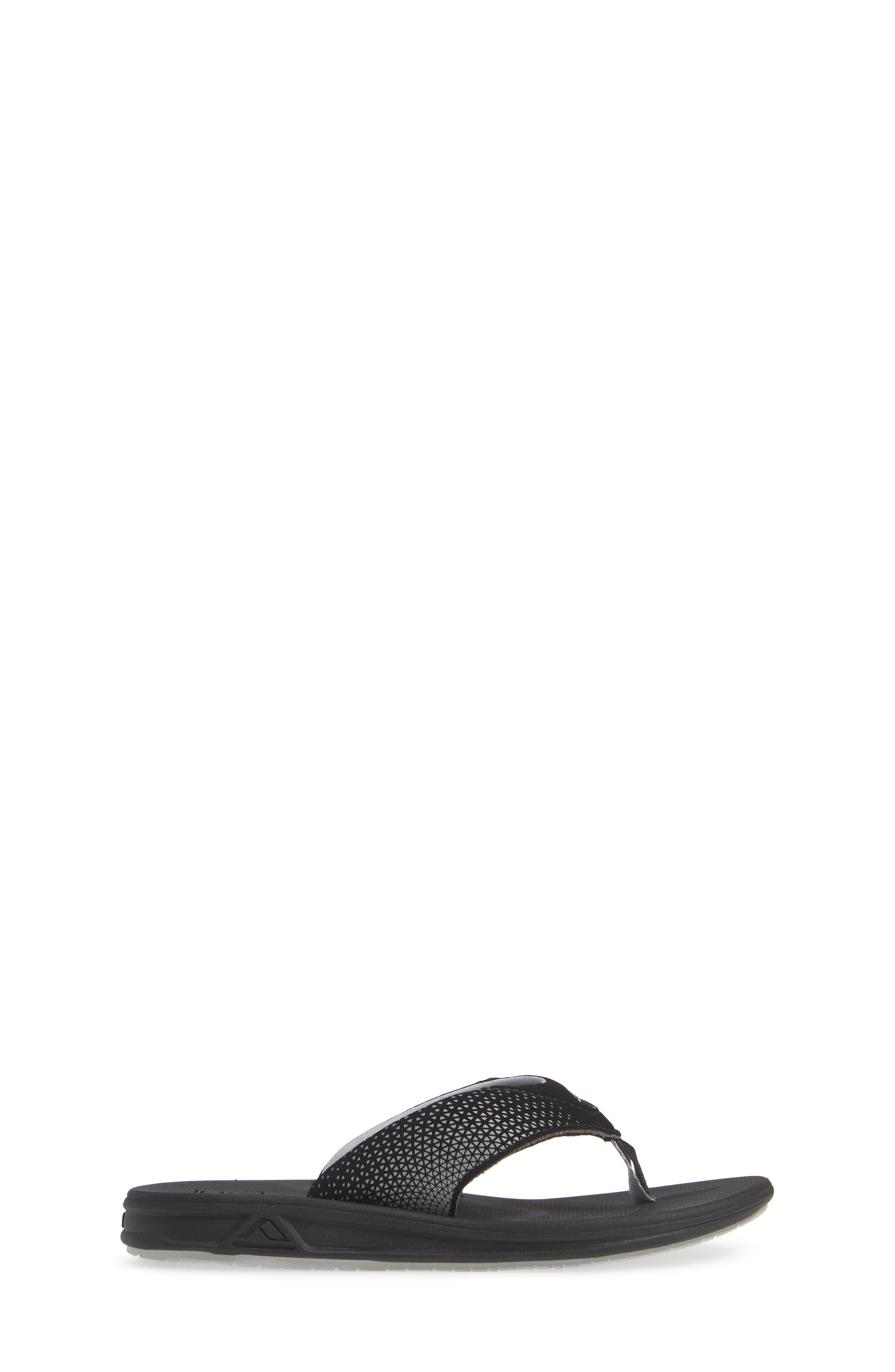 REEF, Grom Rover Water Friendly Sandal, Alternate thumbnail 3, color, BLACK