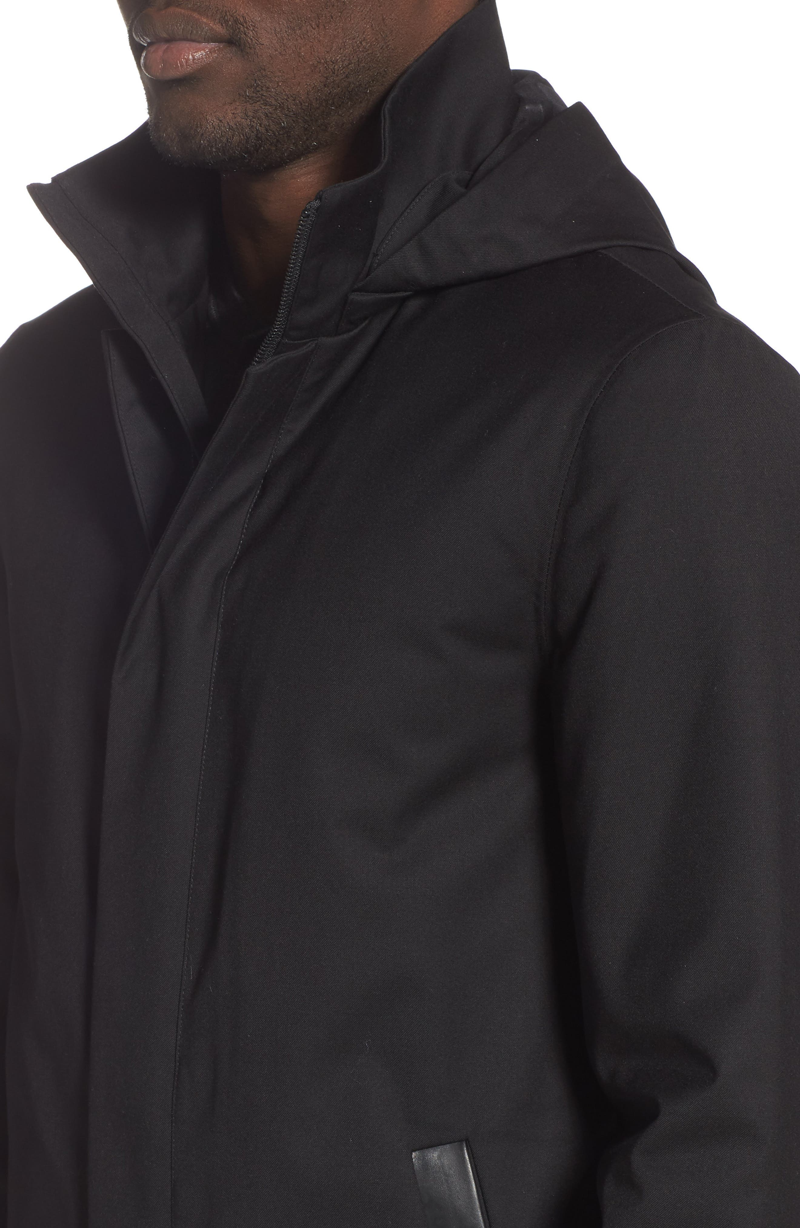 MACKAGE, Thorin-Z Jacket with Removable Down Lining, Alternate thumbnail 4, color, BLACK