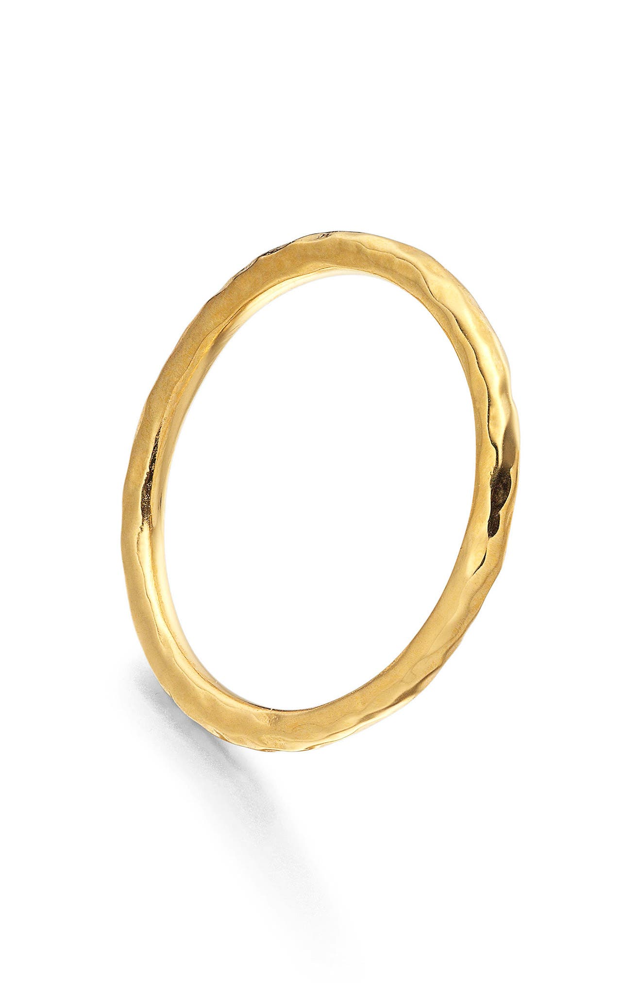 MONICA VINADER, Siren Hammered Ring, Alternate thumbnail 3, color, GOLD
