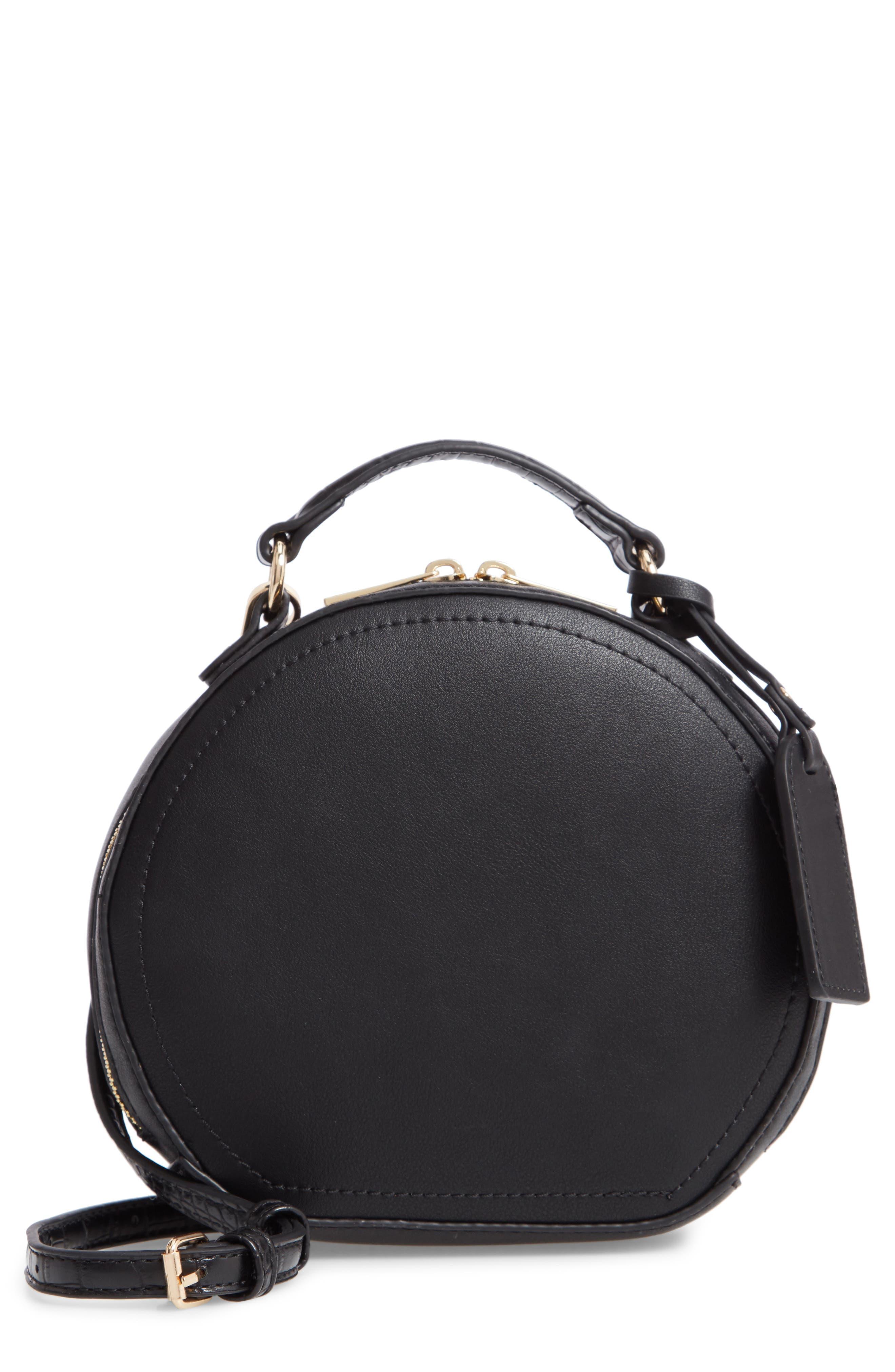 SOLE SOCIETY Jayma Circle Crossbody Bag, Main, color, 001