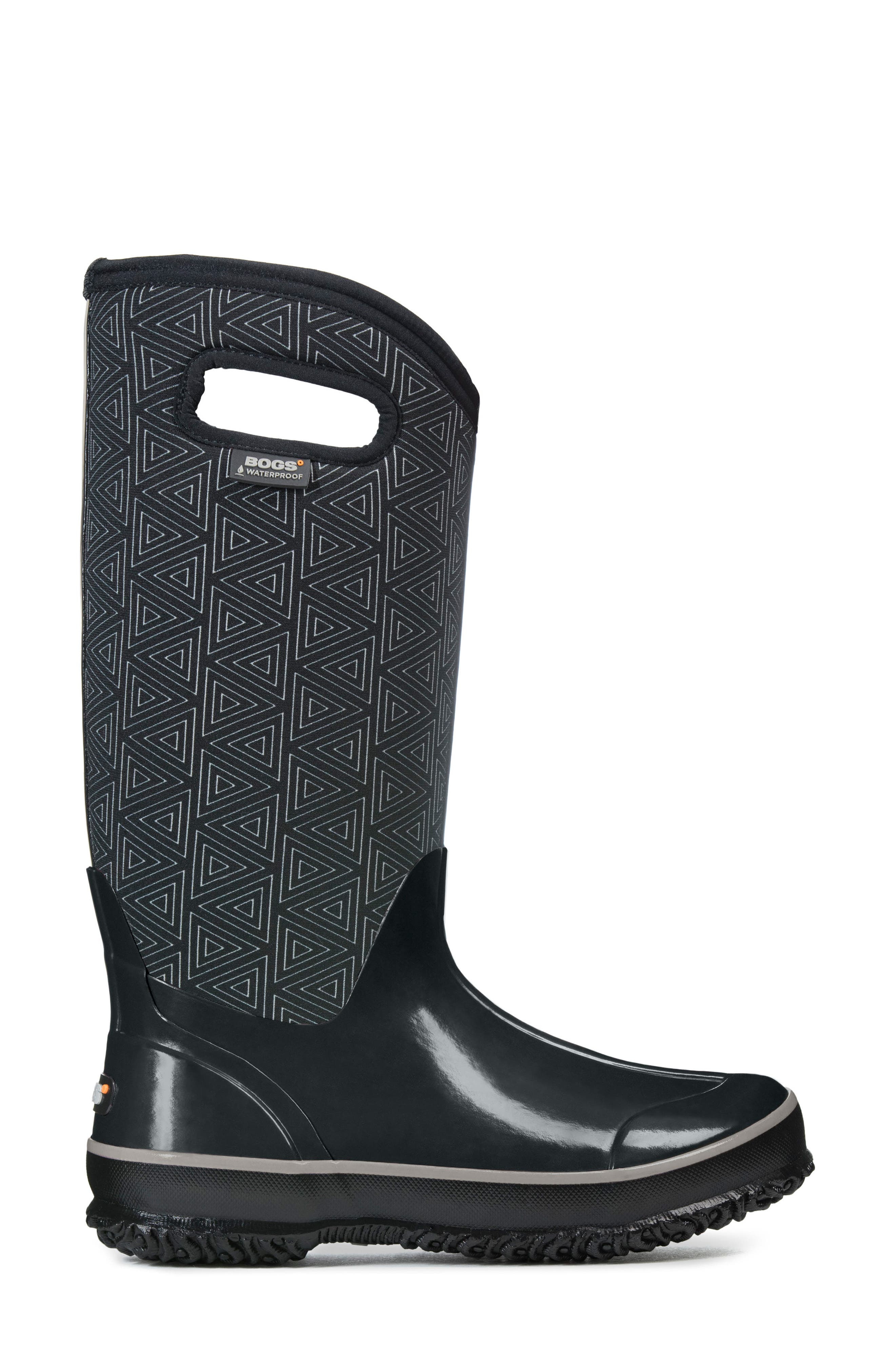 BOGS, Classic Triangles Waterproof Subzero Insulated Boot, Alternate thumbnail 3, color, 009