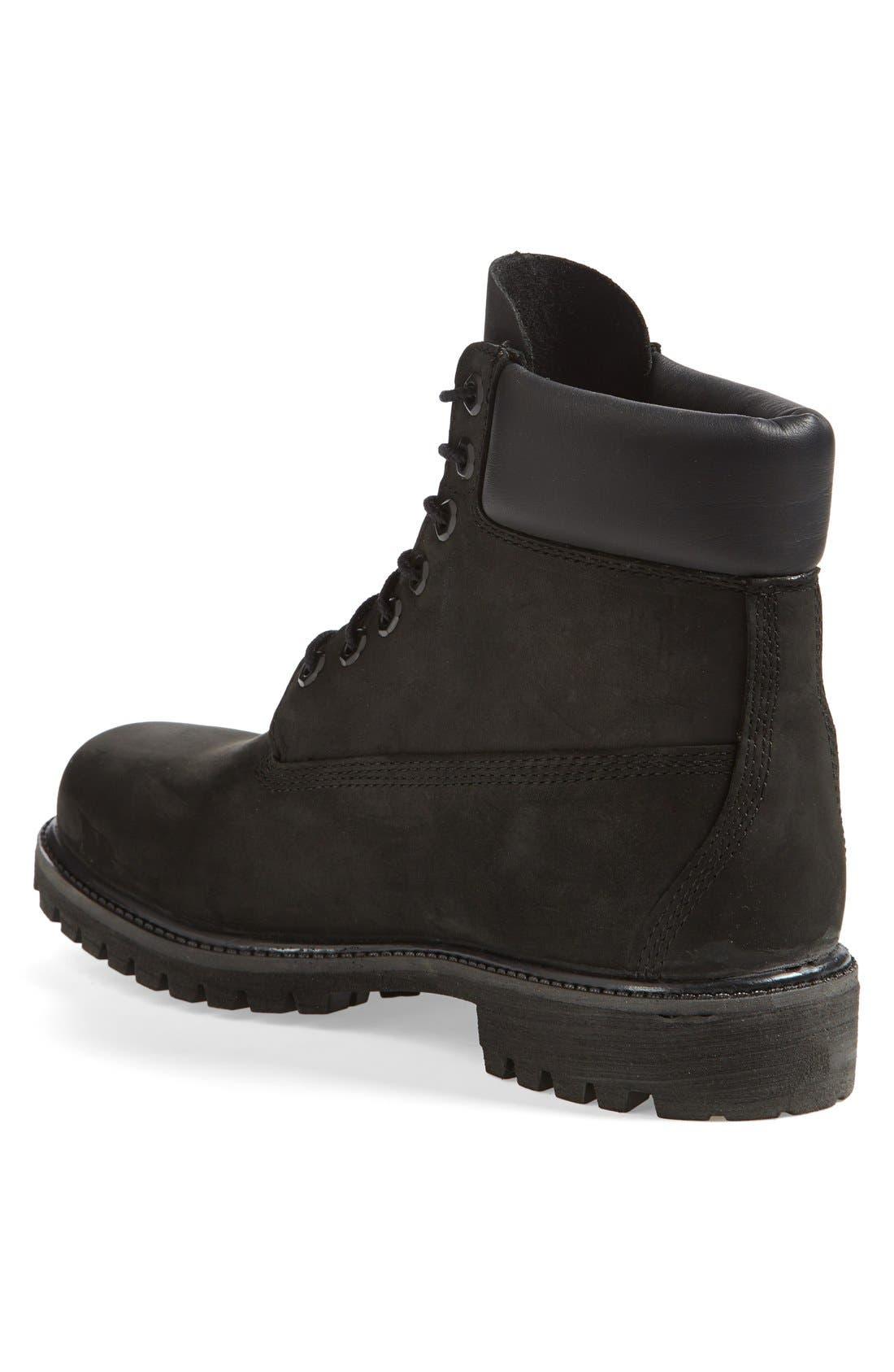 TIMBERLAND, Six Inch Classic Waterproof Boots - Premium Waterproof Boot, Alternate thumbnail 2, color, BLACK