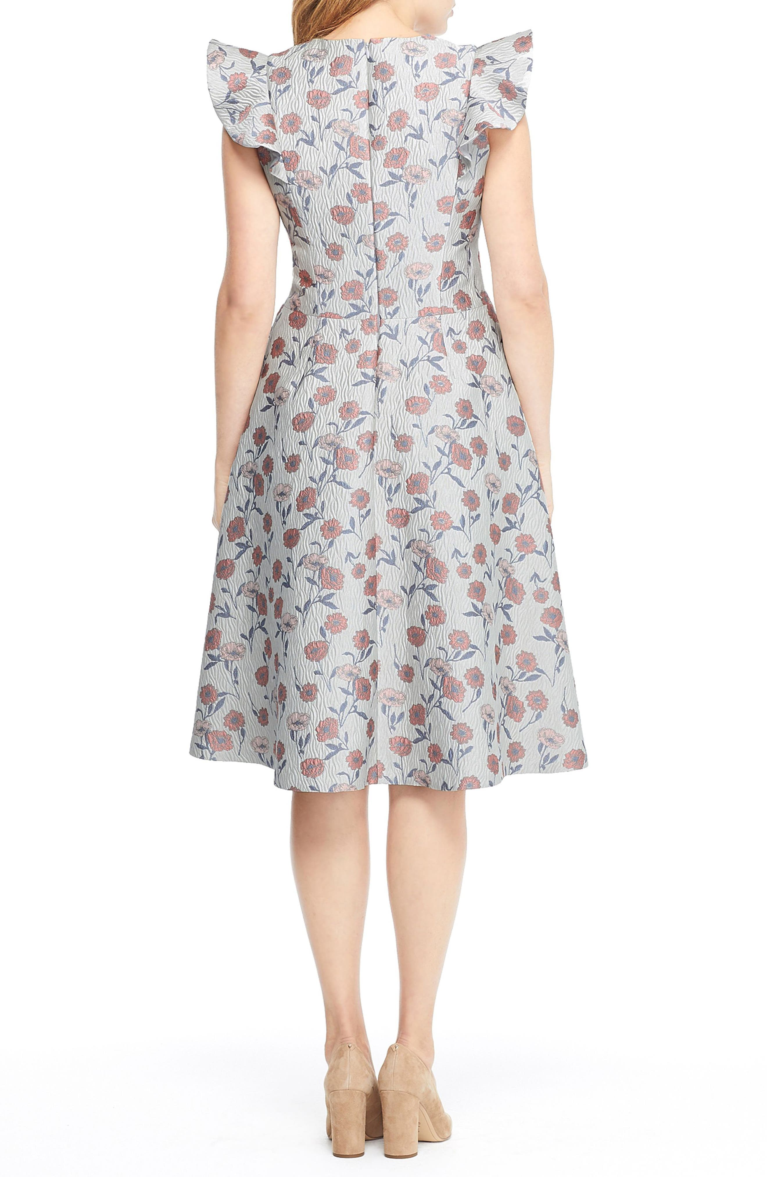 GAL MEETS GLAM COLLECTION, Lola Dancing Daisy Jacquard Dress, Alternate thumbnail 2, color, 650