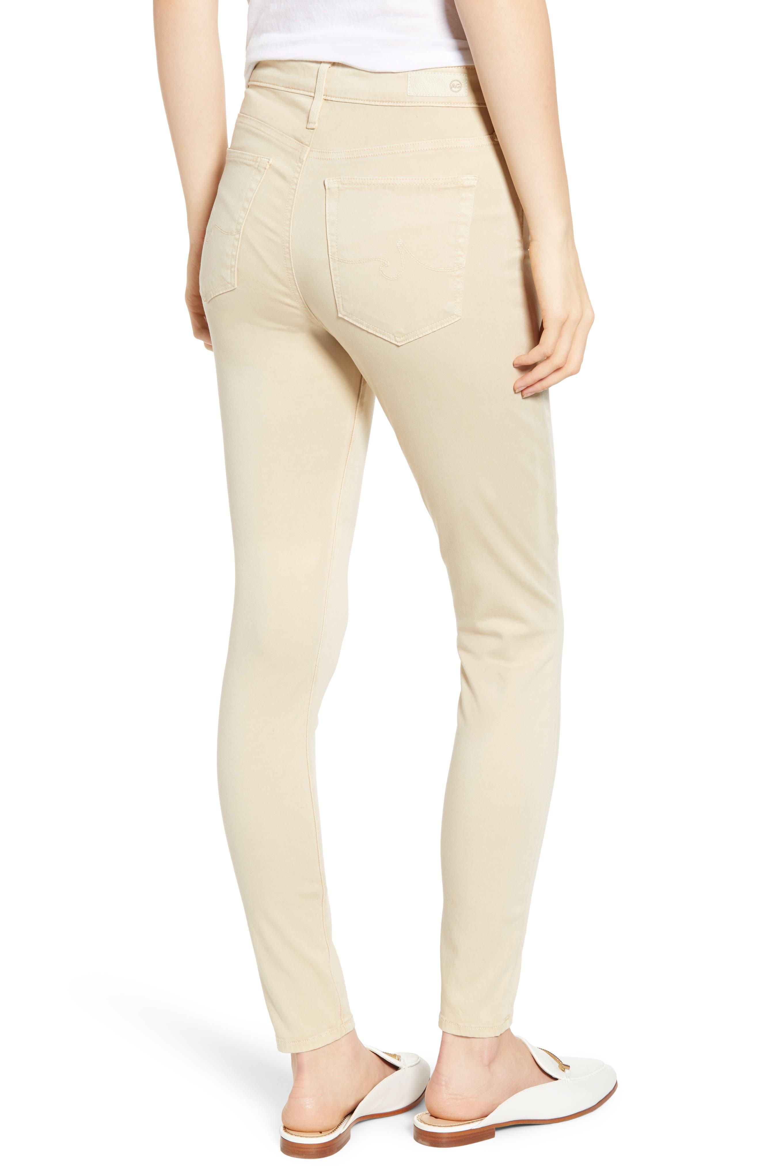 AG, Farrah High Waist Ankle Skinny Jeans, Alternate thumbnail 2, color, SULFUR FRESH SAND