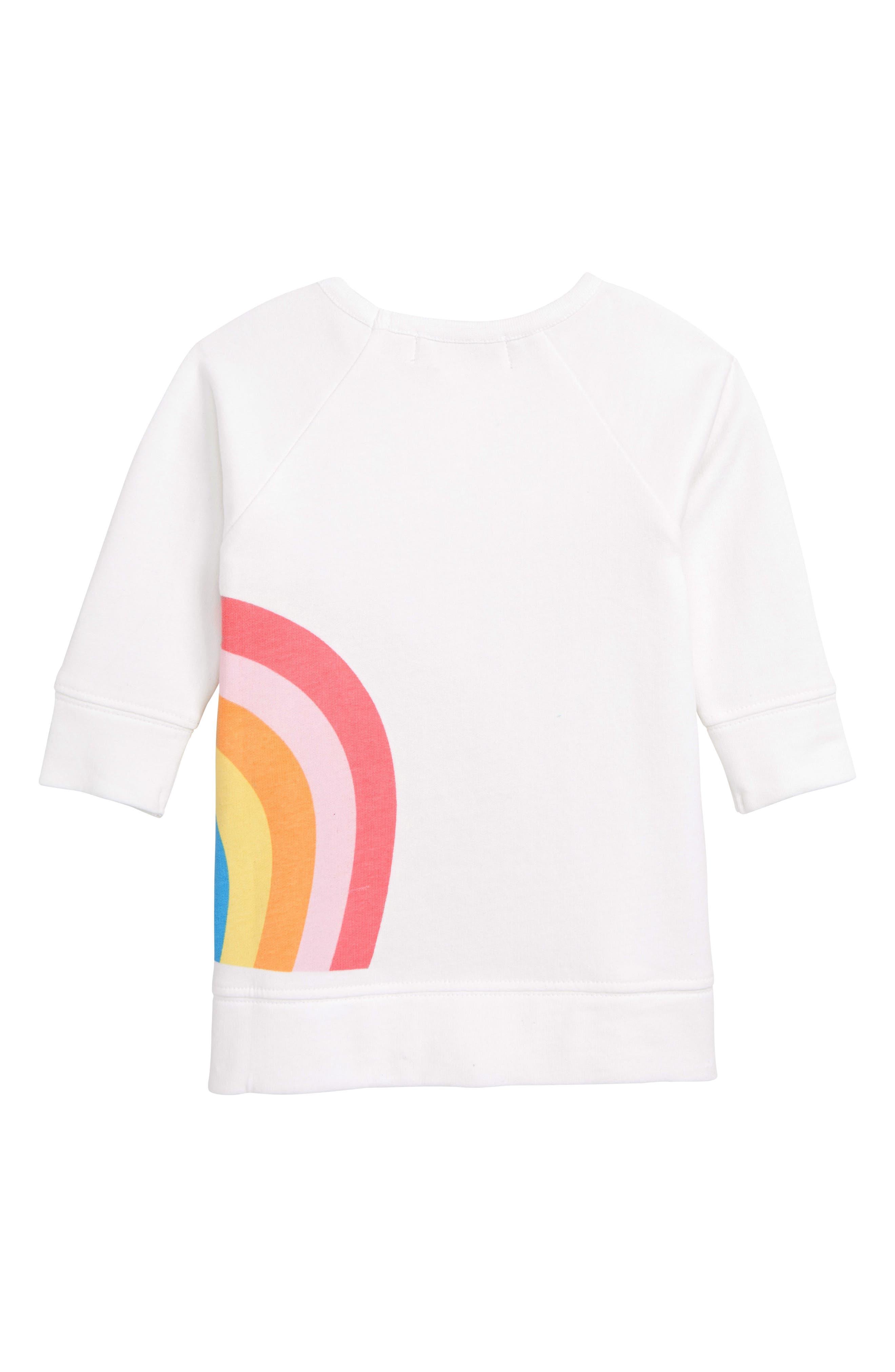 MONICA + ANDY, Varsity Sweatshirt Dress, Alternate thumbnail 2, color, 100