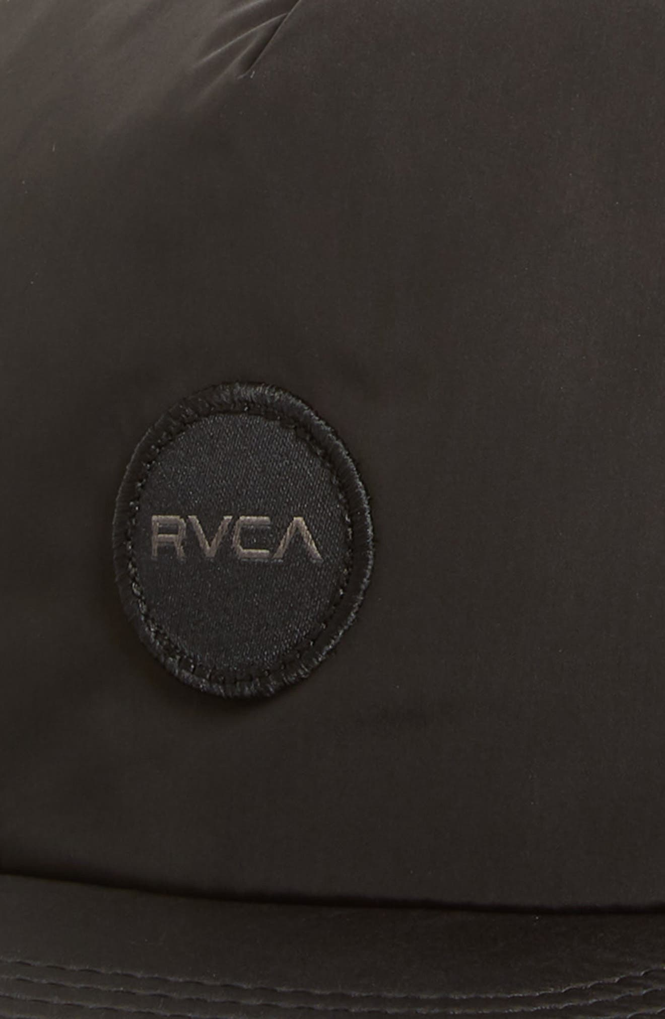 RVCA, Travel Trucker Hat, Alternate thumbnail 3, color, BLACK