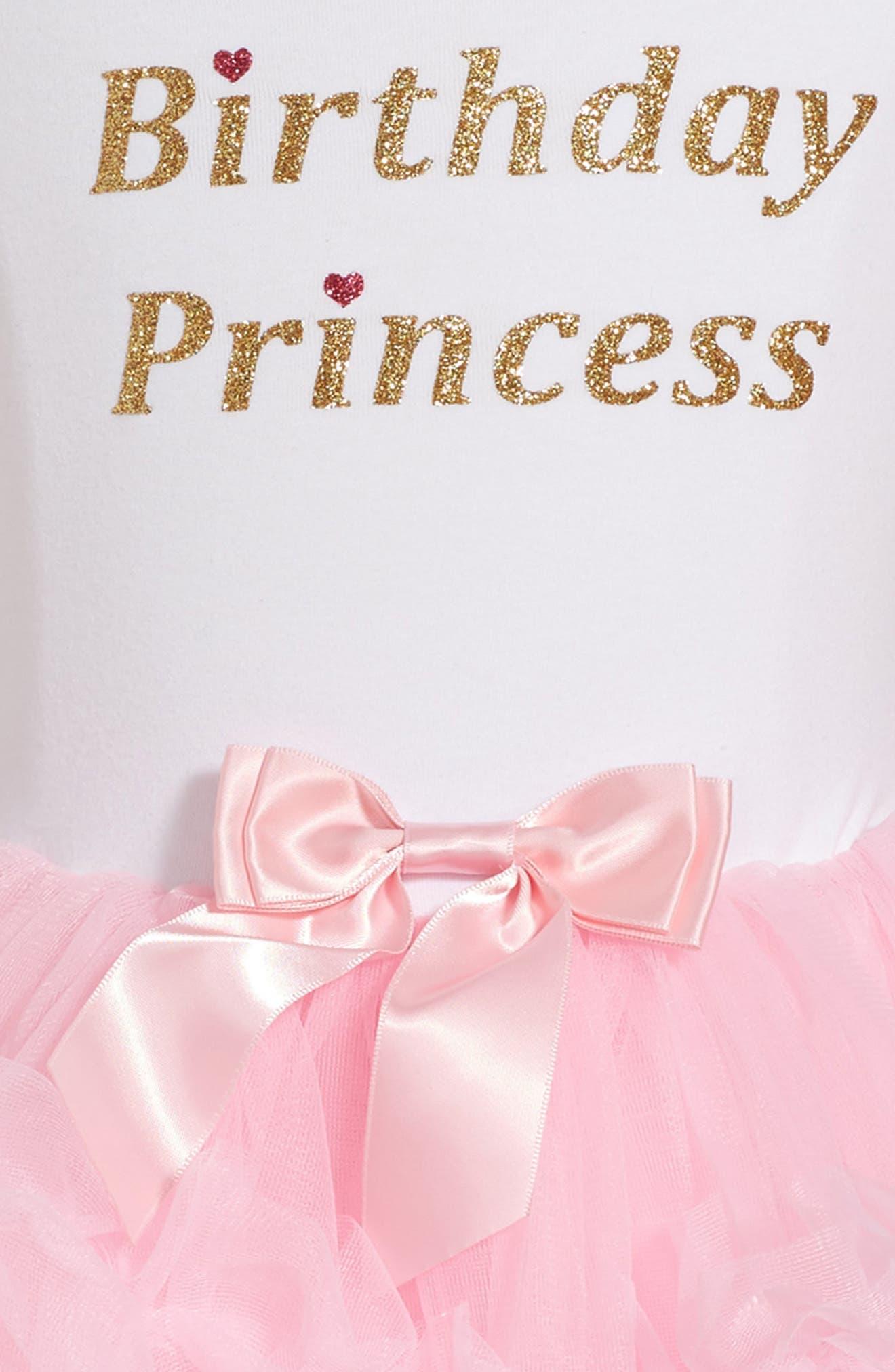 POPATU, Birthday Princess Tutu Dress, Alternate thumbnail 3, color, PINK