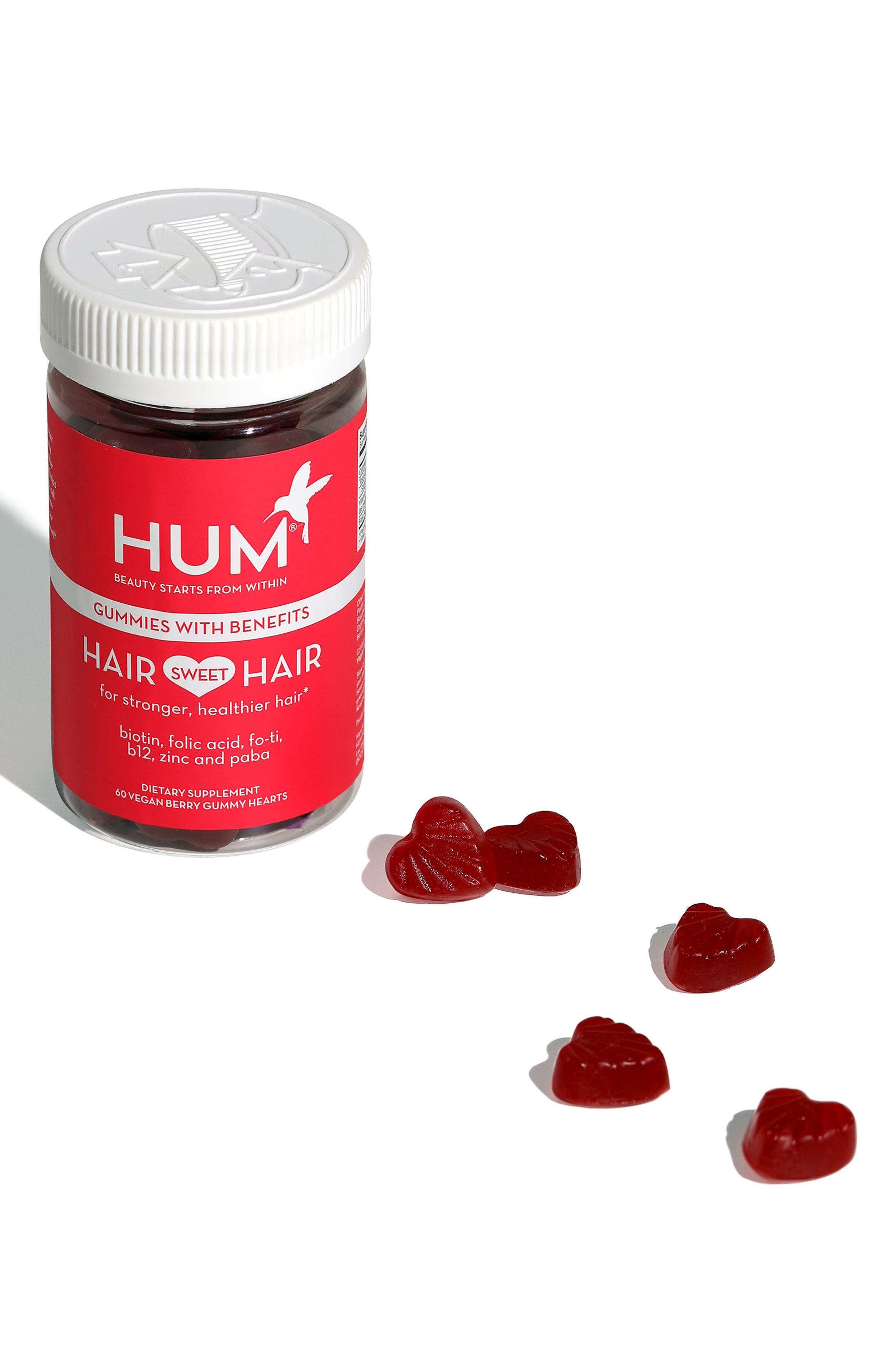 HUM NUTRITION, Hair Sweet Hair Gummies Supplement for Healthy Hair, Alternate thumbnail 5, color, NO COLOR
