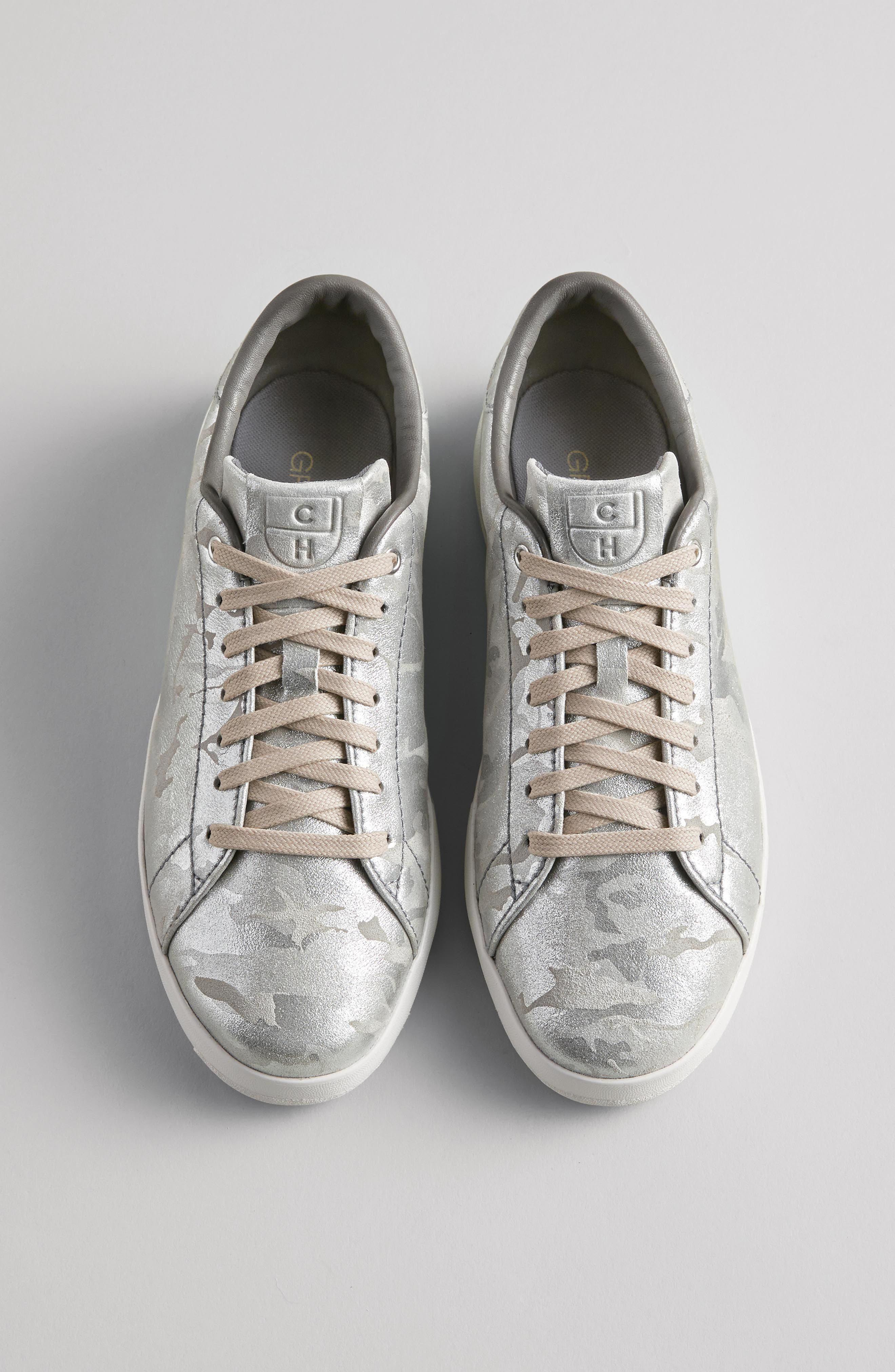 COLE HAAN, GrandPro Tennis Shoe, Alternate thumbnail 12, color, BLUEBERRY SUEDE