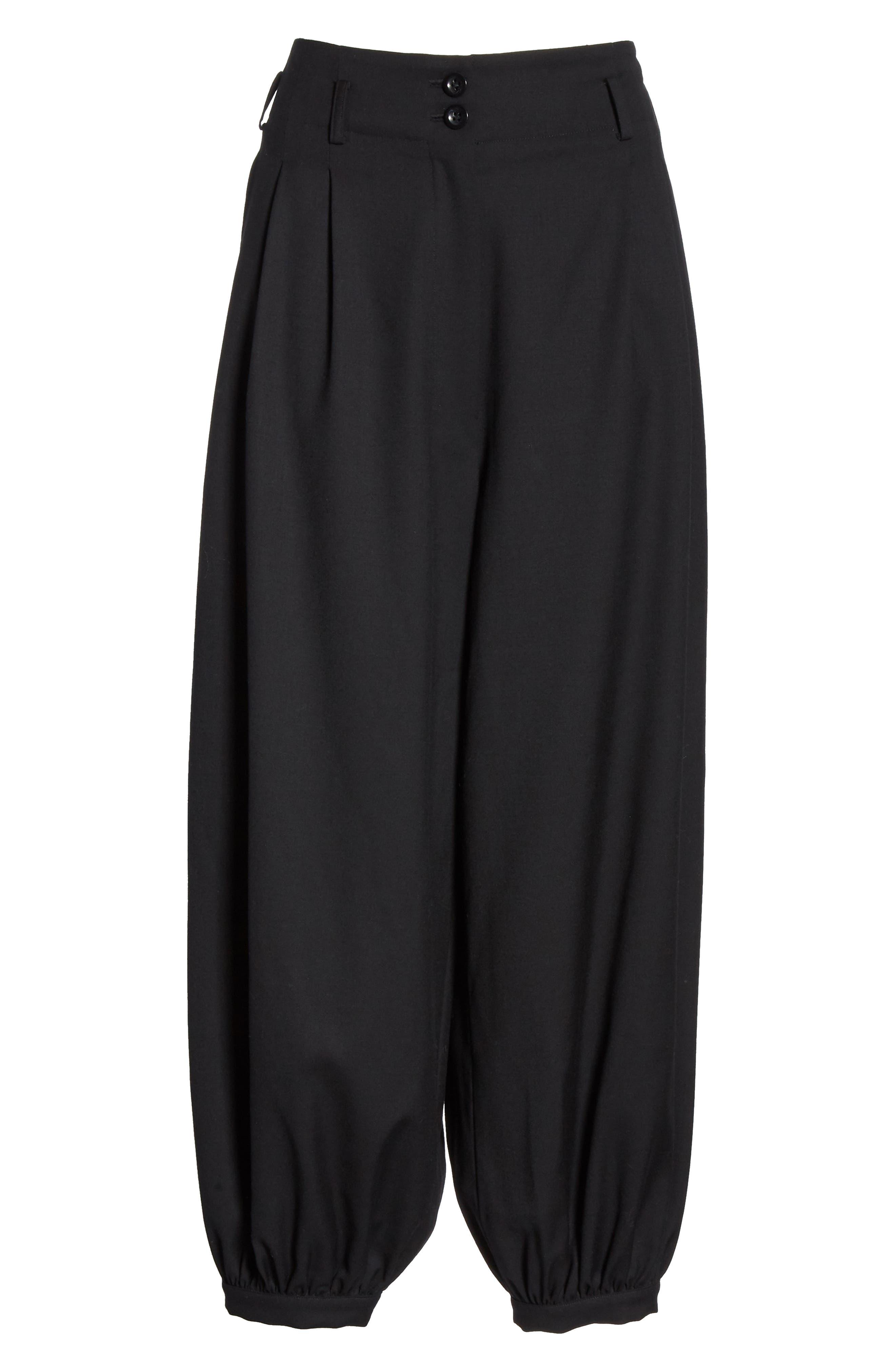 NILI LOTAN, Wynona Harem Pants, Alternate thumbnail 7, color, BLACK