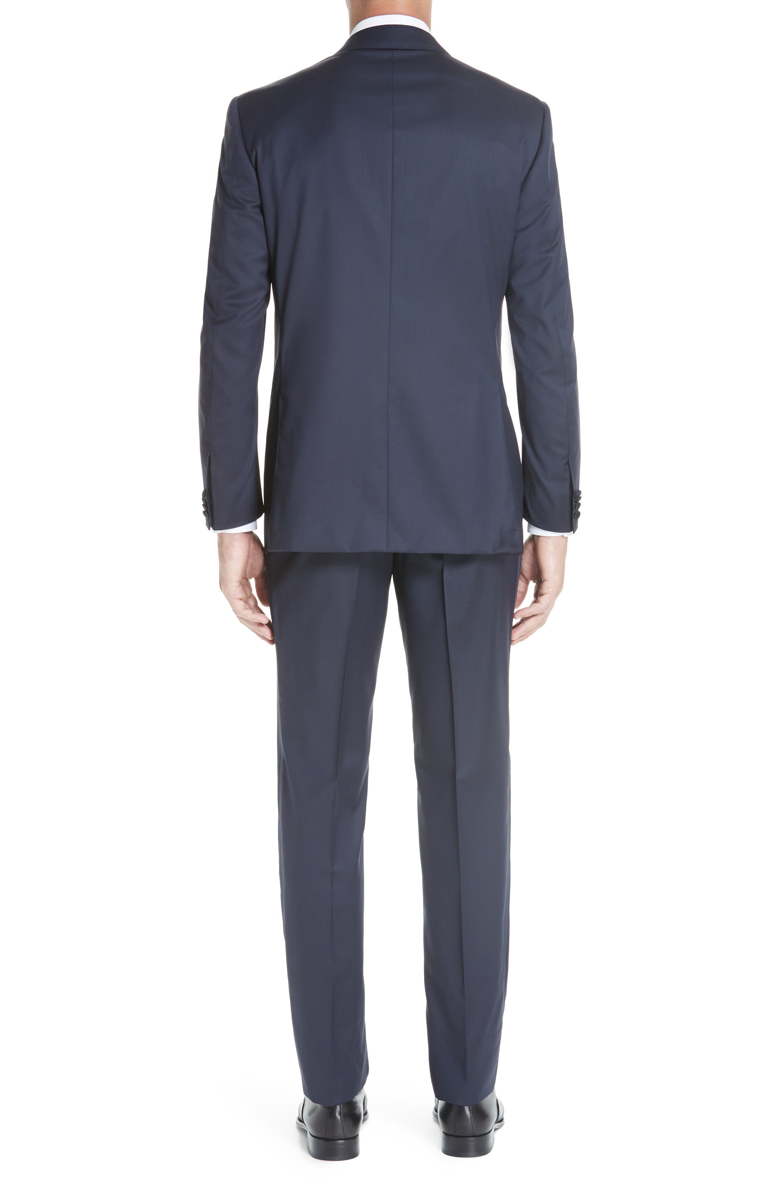 CANALI, Classic Fit Wool Tuxedo, Alternate thumbnail 2, color, NAVY