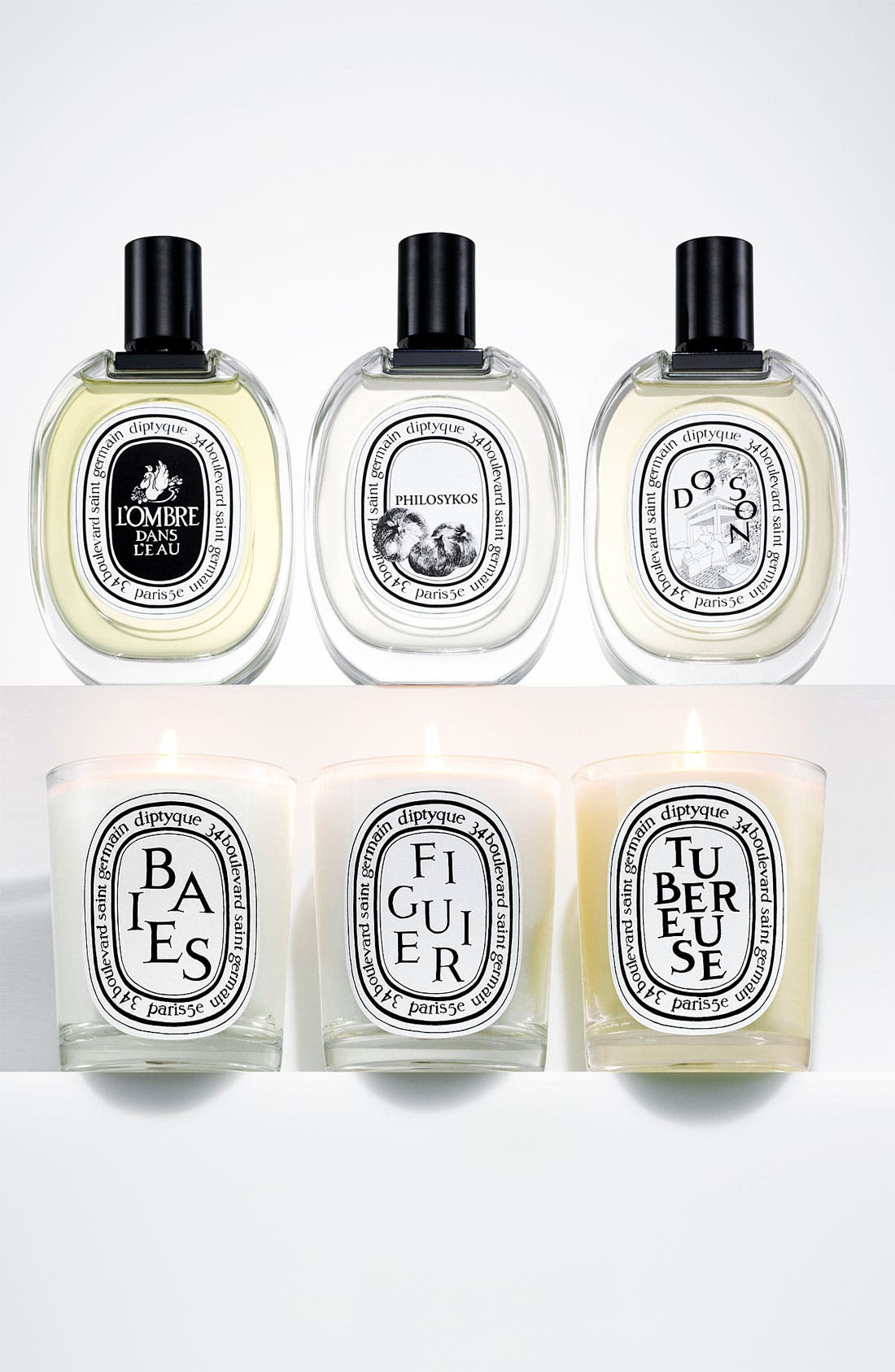 DIPTYQUE, Tubereuse/Tuberose Scented Candle, Alternate thumbnail 2, color, NO COLOR