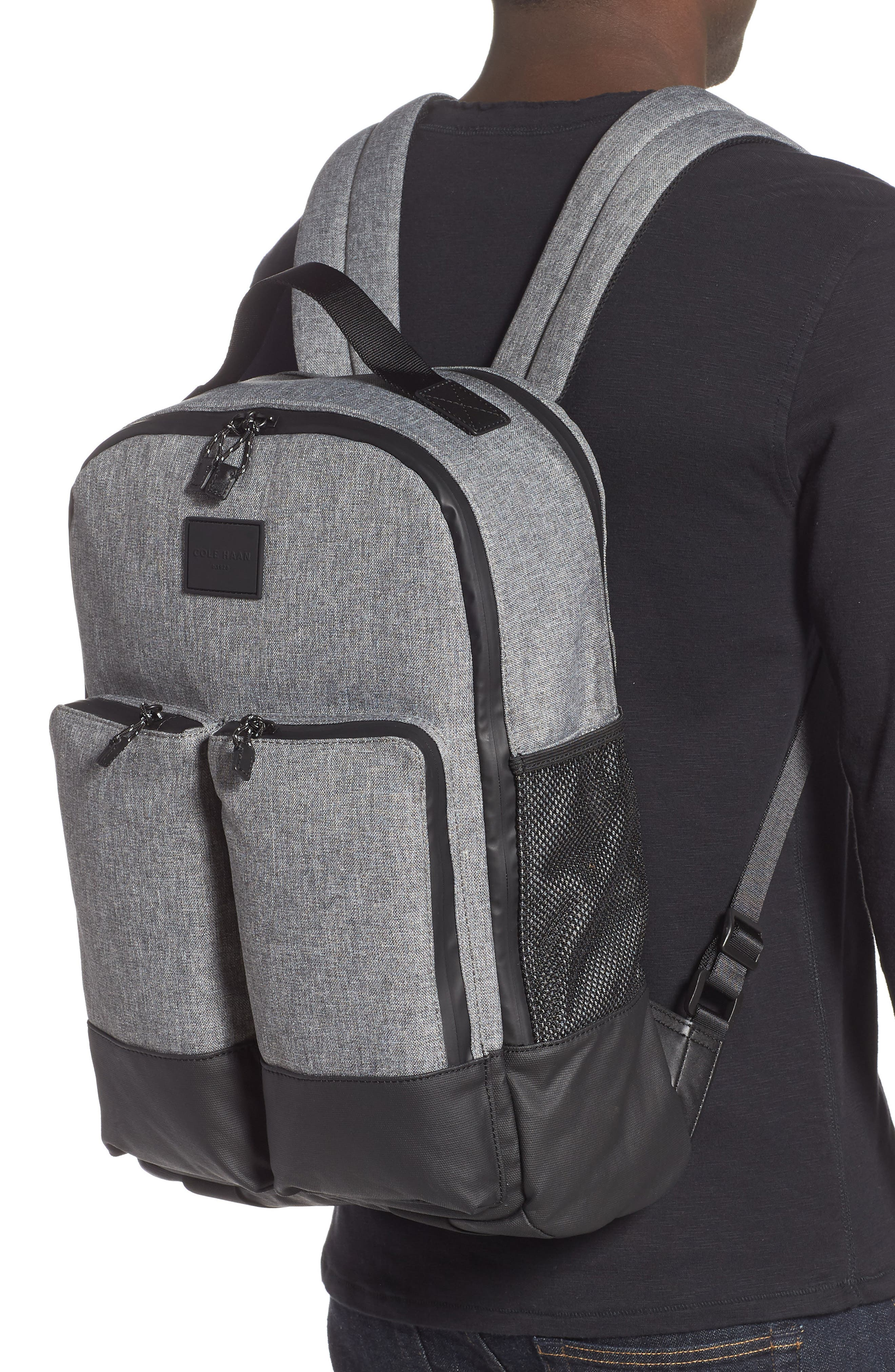 COLE HAAN, Sawyer Trail Backpack, Alternate thumbnail 2, color, HEATHERED GREY