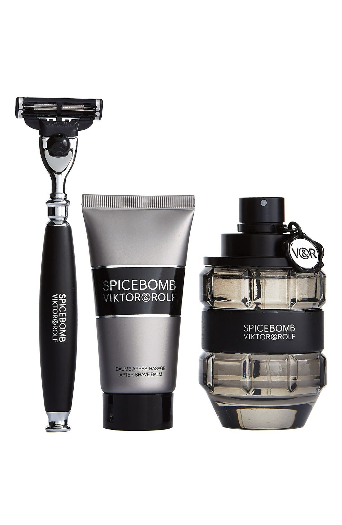 VIKTOR AND ROLF SPICEBOMB, Viktor&Rolf 'Spicebomb' Shave Set, Alternate thumbnail 2, color, 000