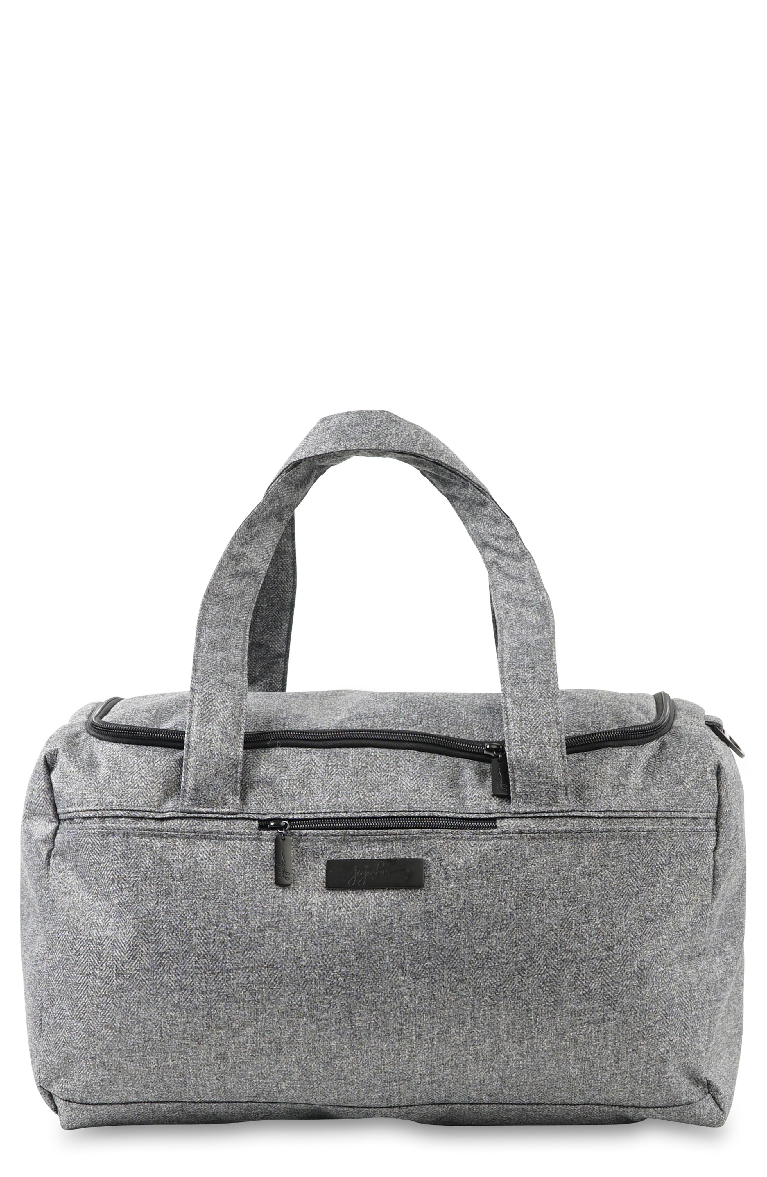 JU-JU-BE, Starlet Onyx Collection Travel Diaper Bag, Main thumbnail 1, color, GRAY MATTER