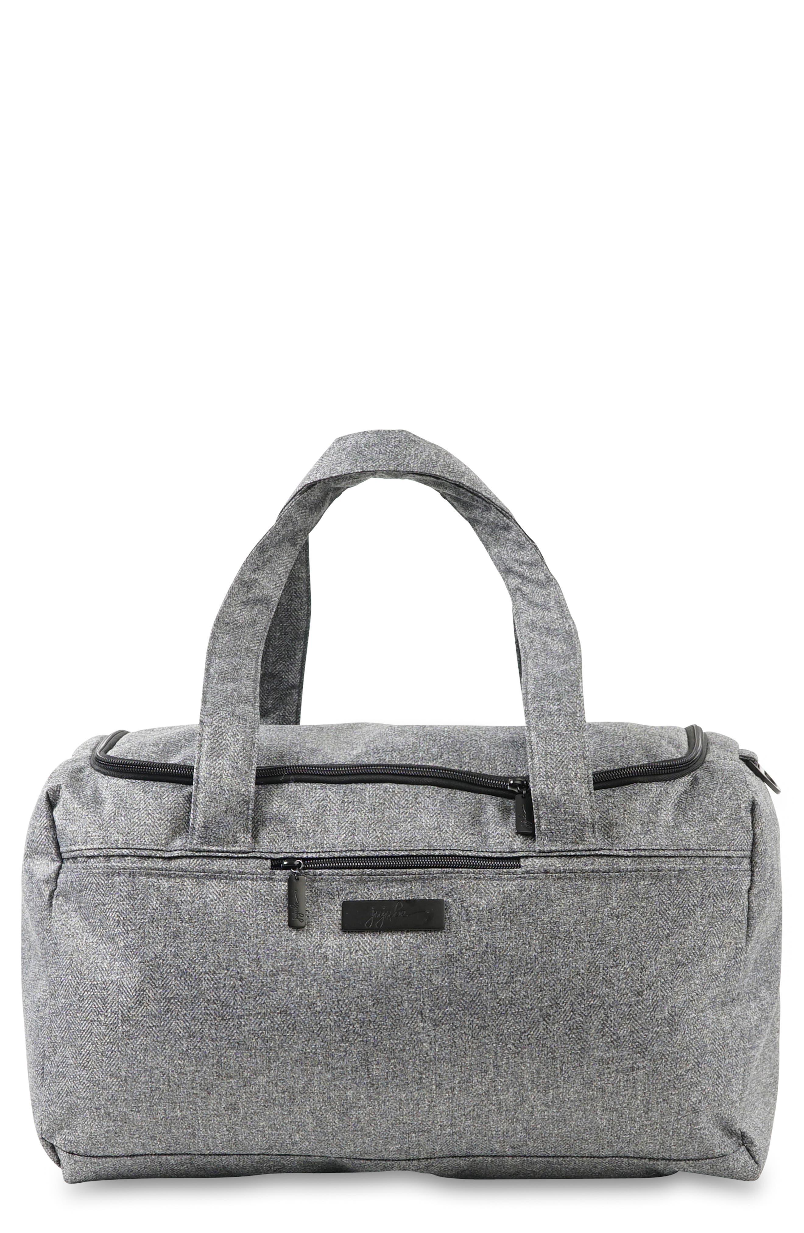 JU-JU-BE Starlet Onyx Collection Travel Diaper Bag, Main, color, GRAY MATTER