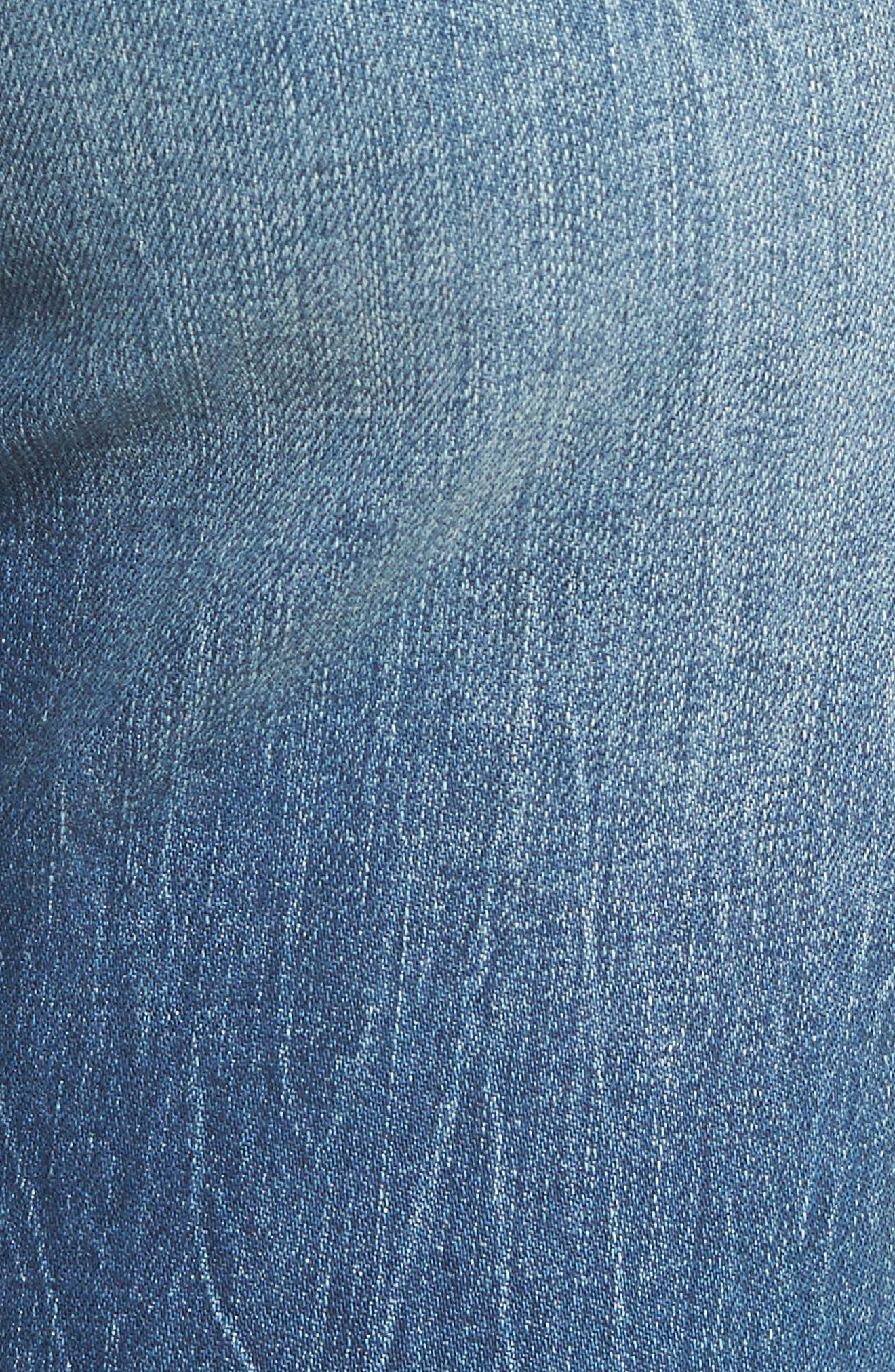 SLINK JEANS, Distressed Ankle Boyfriend Jeans, Alternate thumbnail 5, color, 456